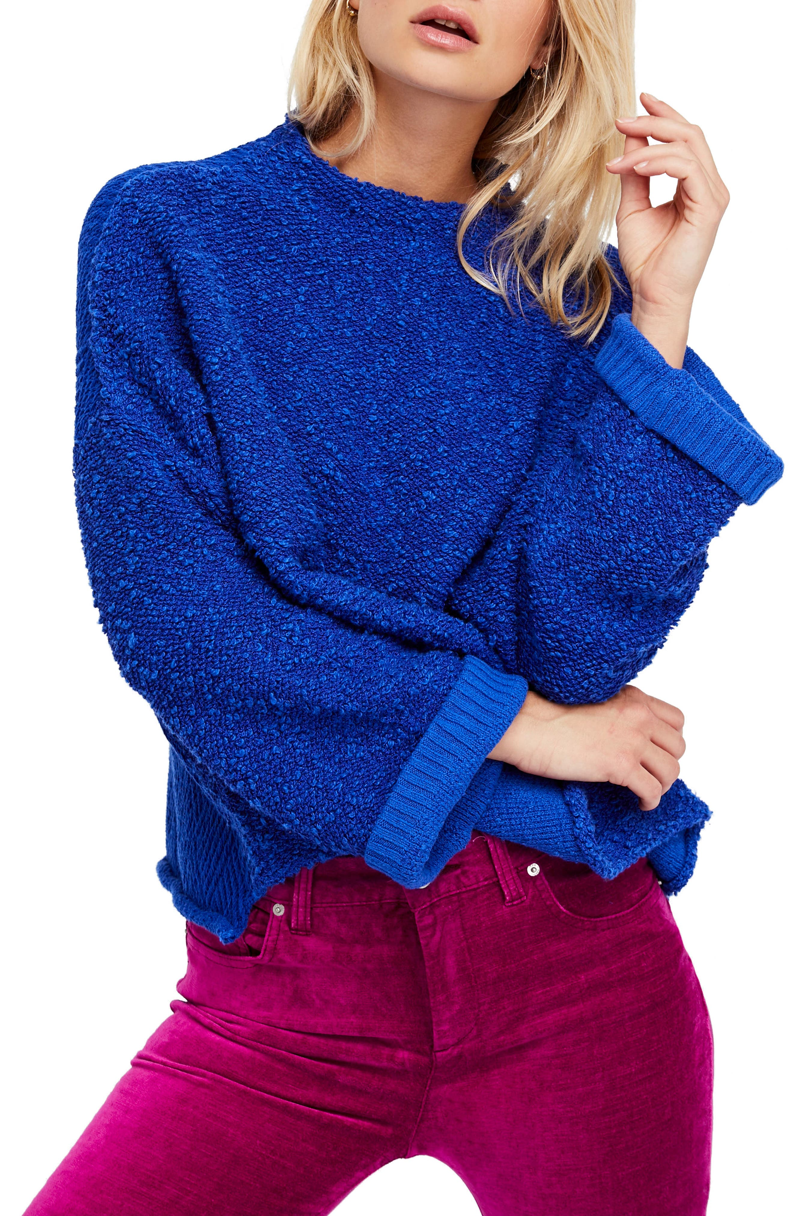 Alternate Image 1 Selected - Free People Cuddle Up Pullover