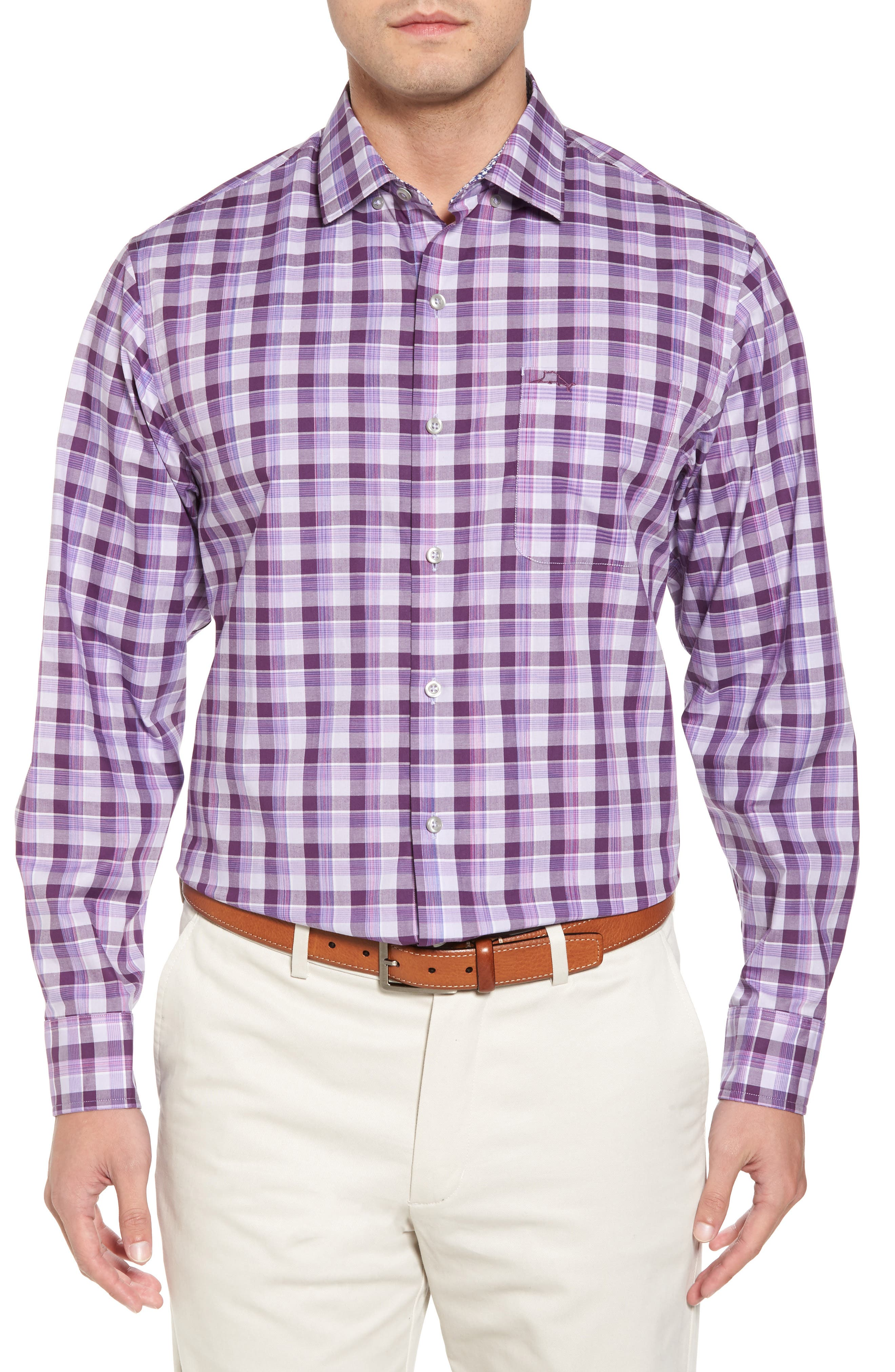 Alternate Image 1 Selected - Tommy Bahama Atlantic Tides Classic Fit Plaid Sport Shirt
