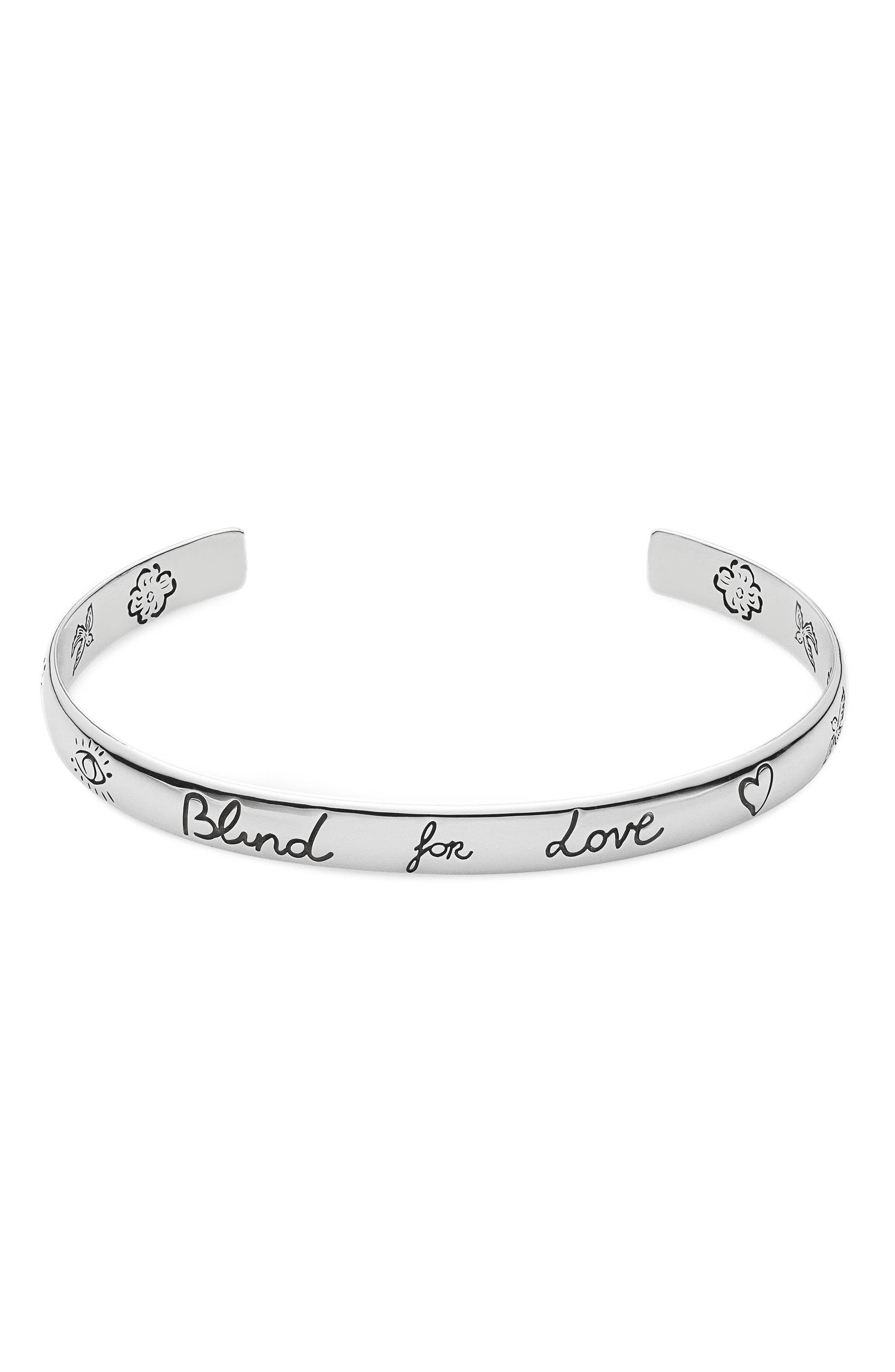 Gucci Silver Blind for Love Cuff