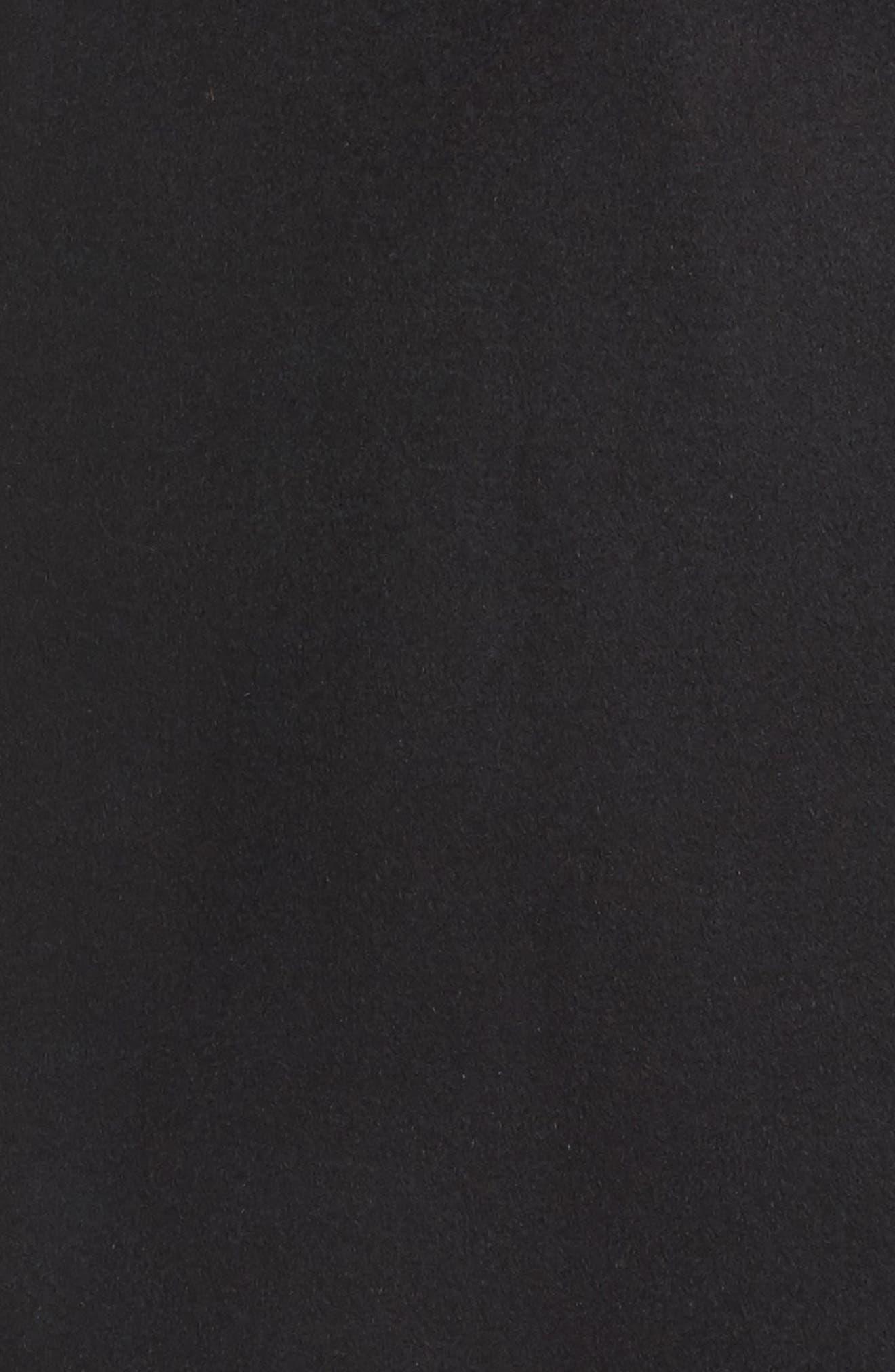 Kimono Wool Blend Coat,                             Alternate thumbnail 5, color,                             Black