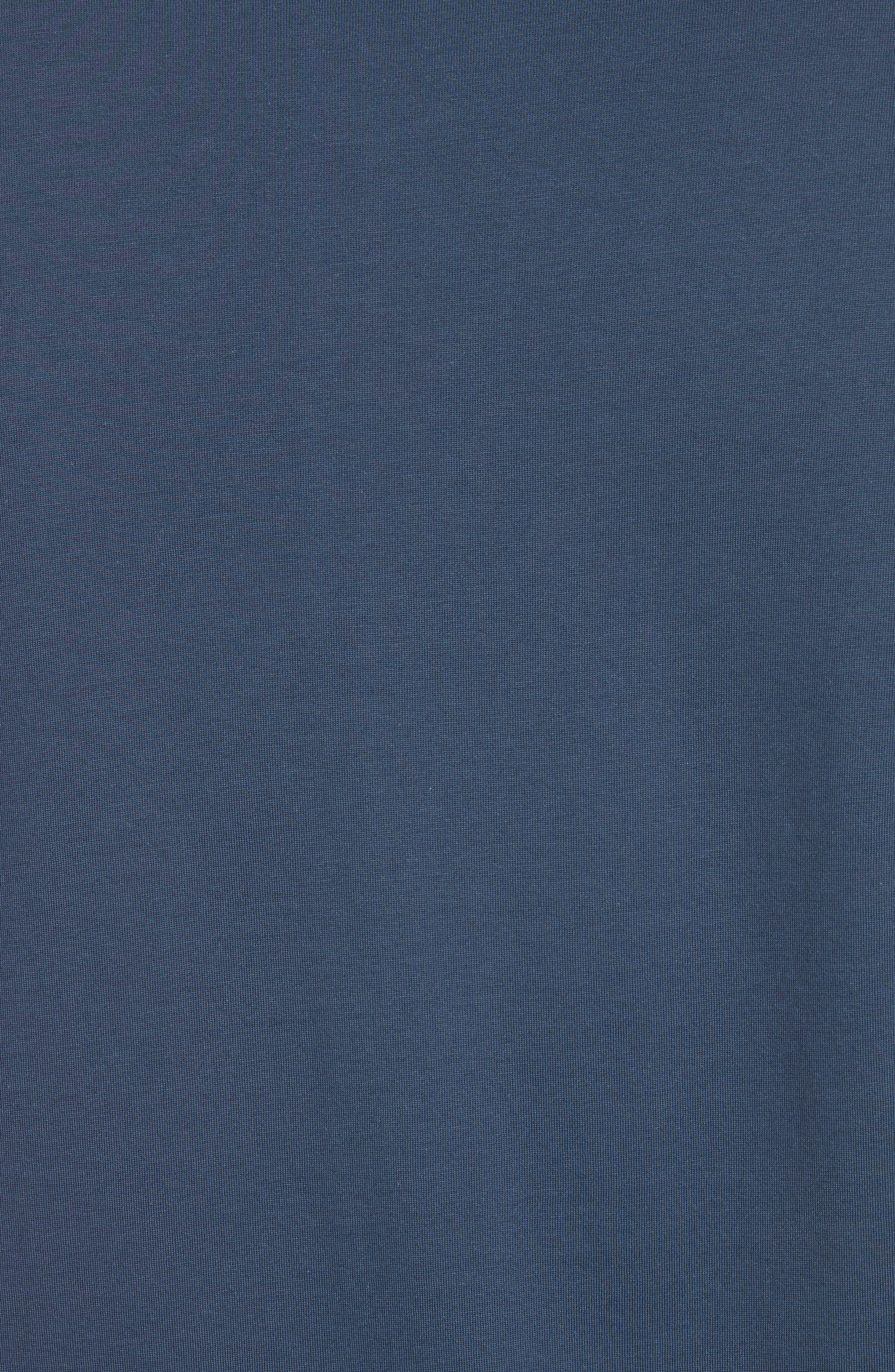 Colorblock Crewneck T-Shirt,                             Alternate thumbnail 5, color,                             Bluette