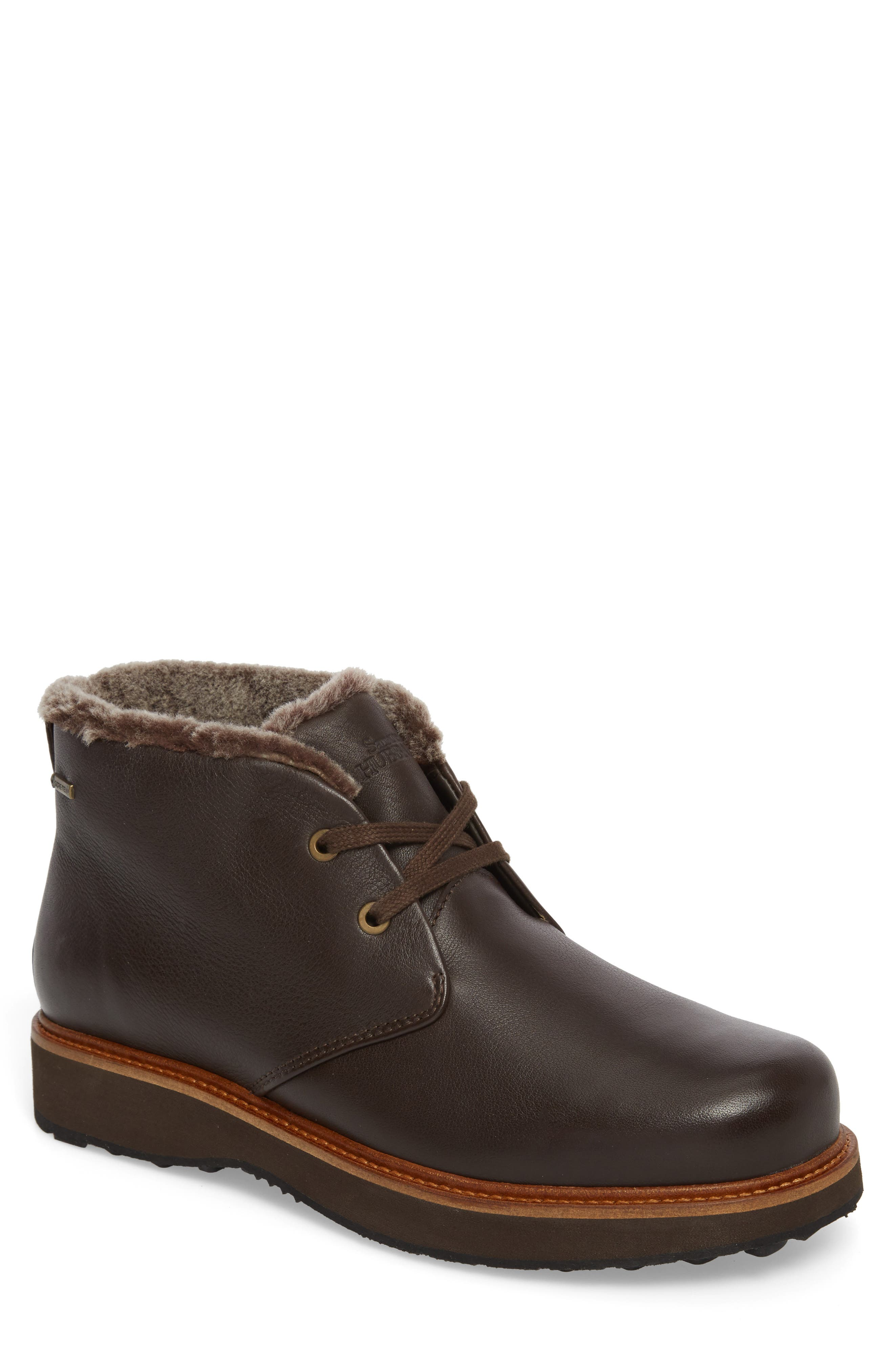 Winter's Day Waterproof Gore-Tex<sup>®</sup> Genuine Shearling Lined Chukka Boot,                             Main thumbnail 1, color,                             Espresso Brown Leather
