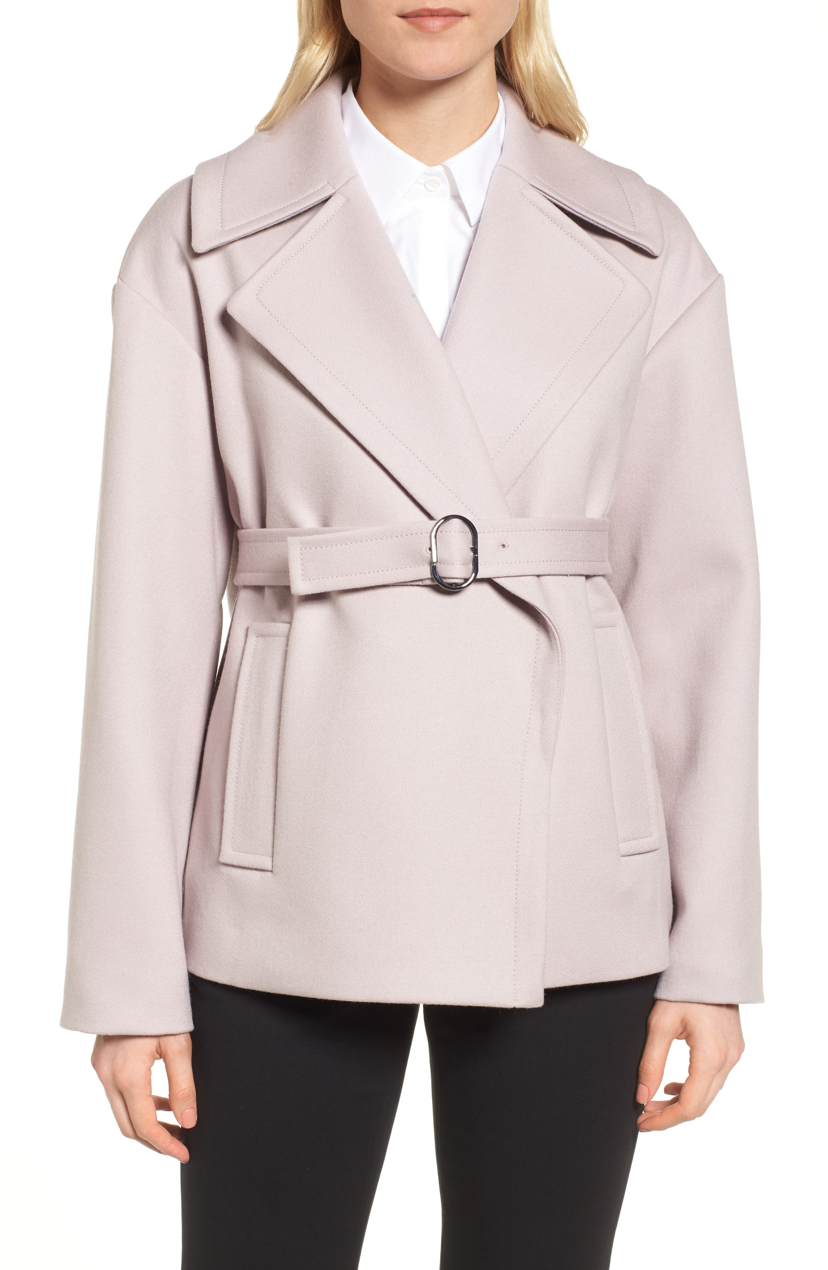 Lewit Oversize Belted Wool Coat