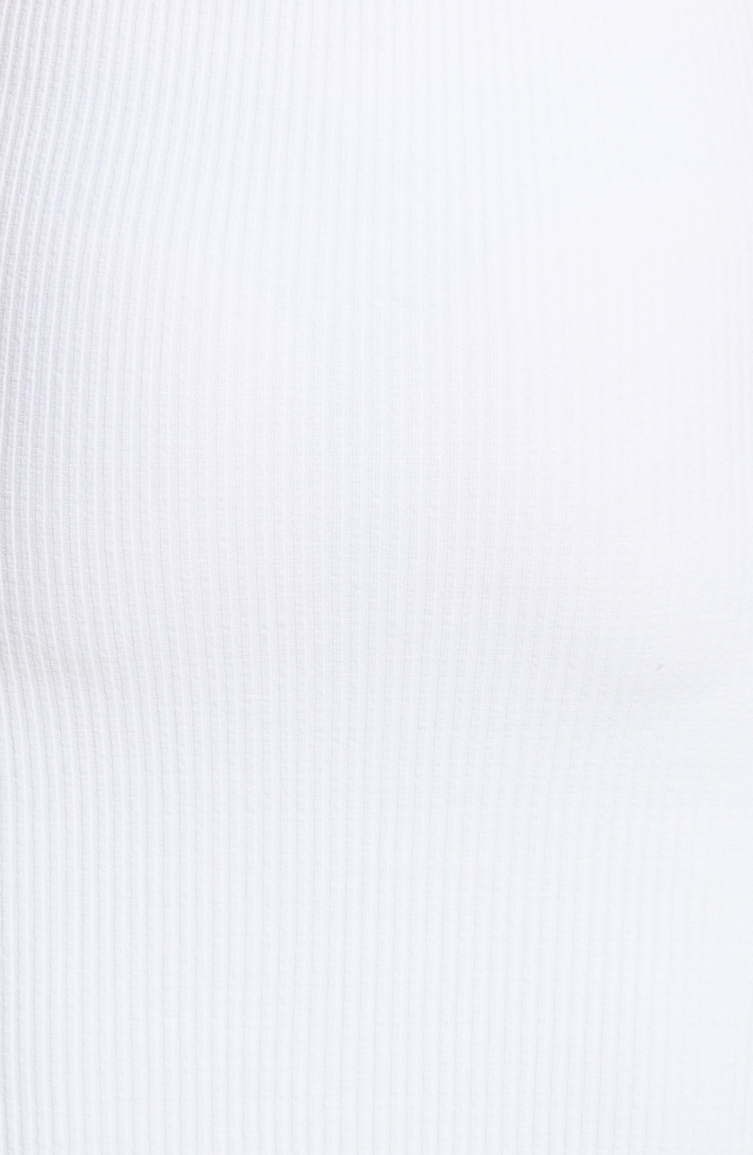 Ribbed Tank Dress,                             Alternate thumbnail 5, color,                             Optic White