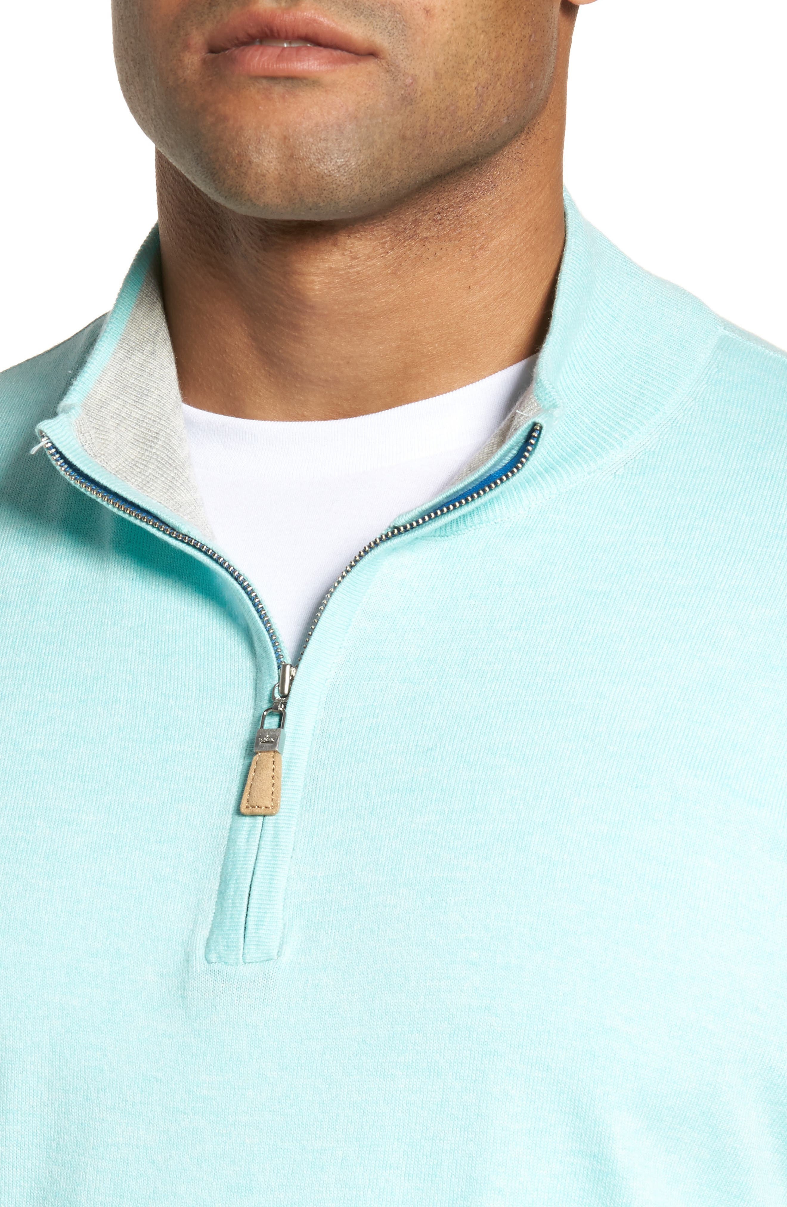 Crown Soft Quarter-Zip Pullover,                             Alternate thumbnail 4, color,                             Venetian Mist