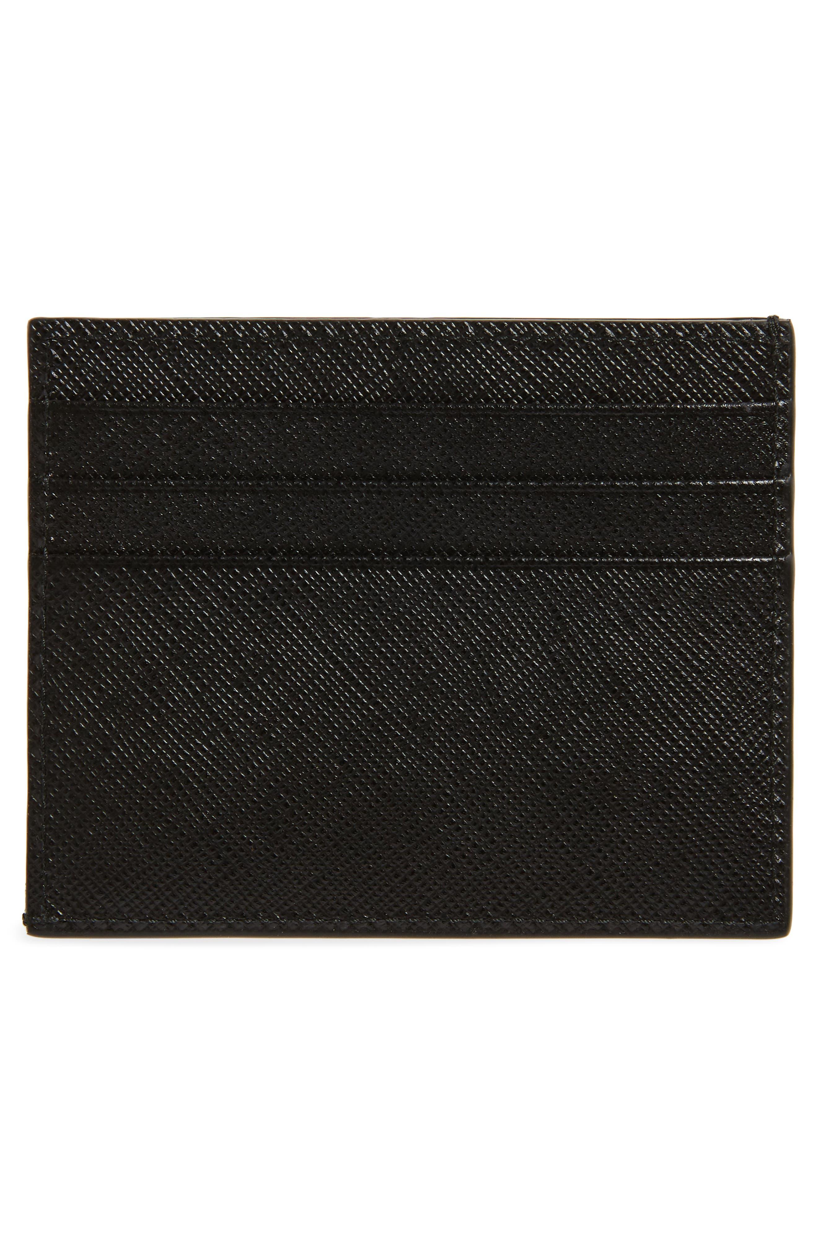 Alternate Image 2  - Prada Saffiano Leather Card Case
