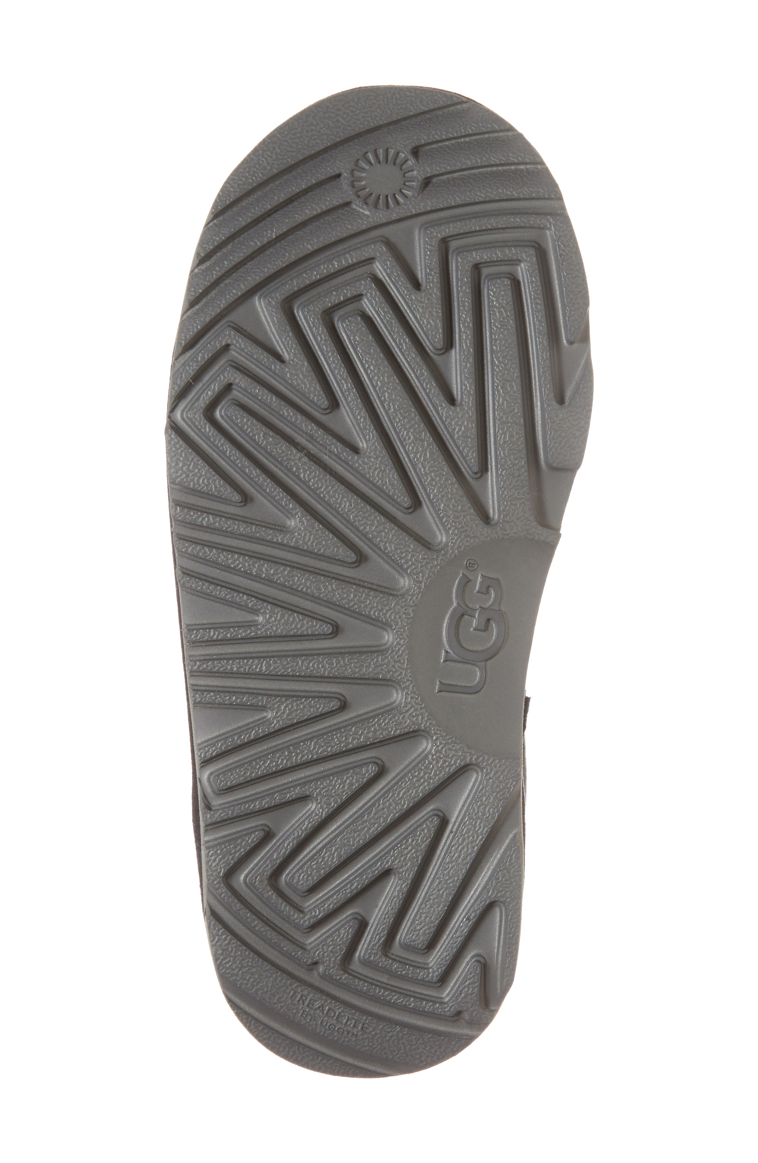 Gita Water-Resistant Genuine Shearling Pom Bootie,                             Alternate thumbnail 6, color,                             Black