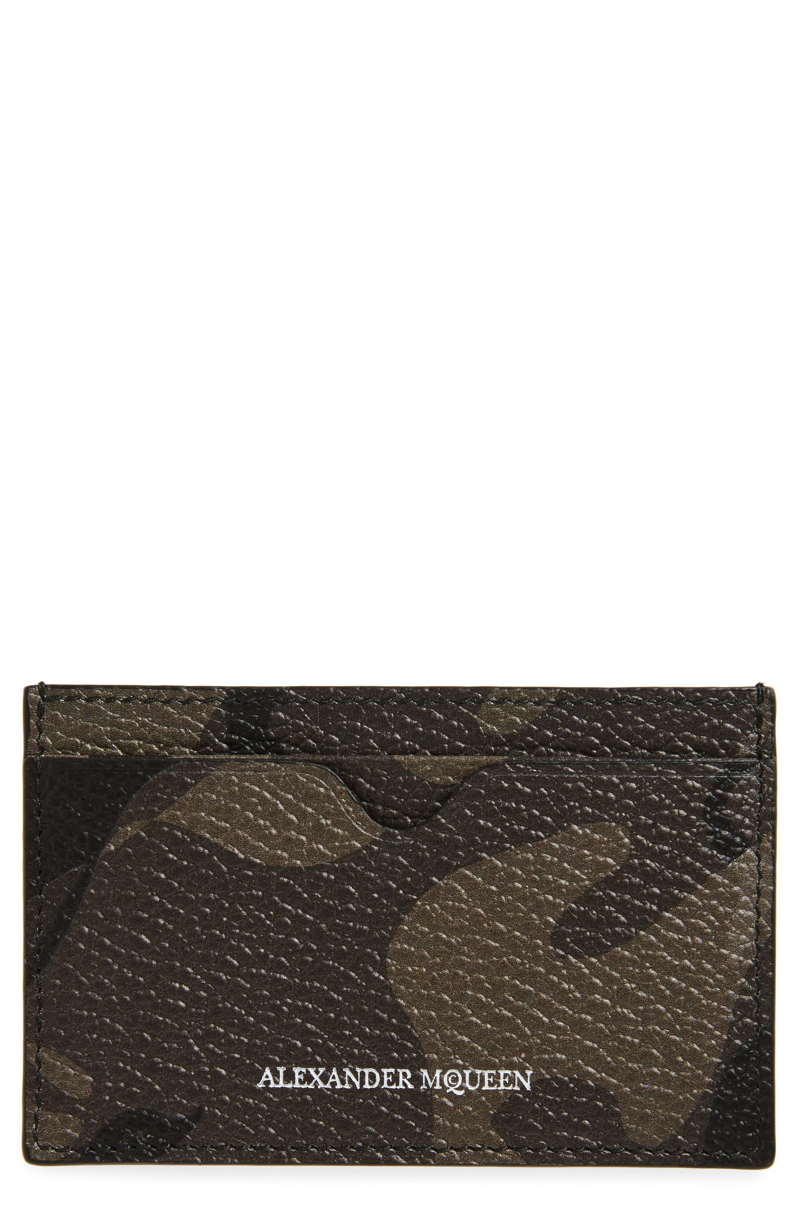 Alternate Image 1 Selected - Alexander McQueen Camo Leather Card Case