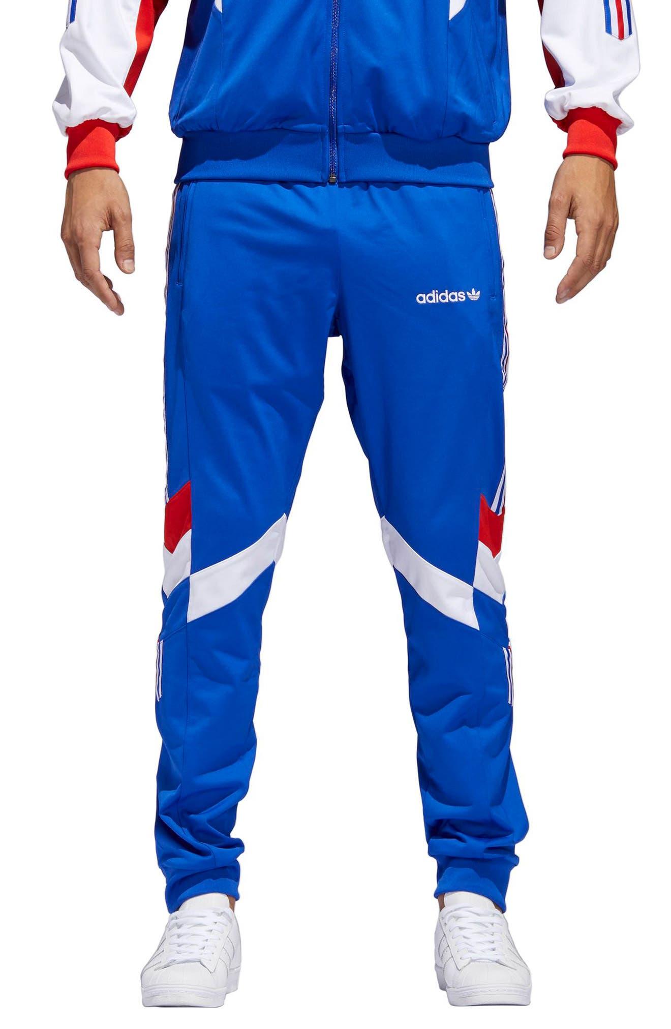 Aloxe Slim Track Pants,                             Main thumbnail 1, color,                             Bold Blue/ White