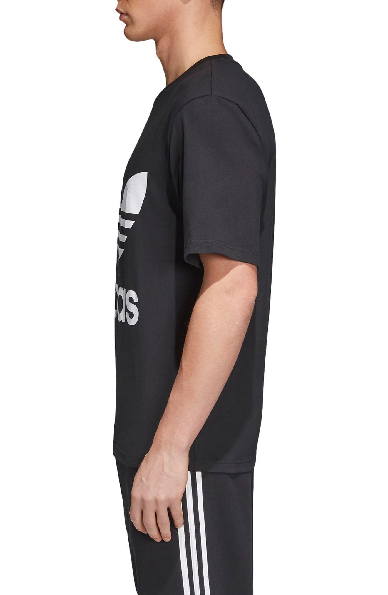 Oversize Logo T-Shirt,                             Alternate thumbnail 3, color,                             Black