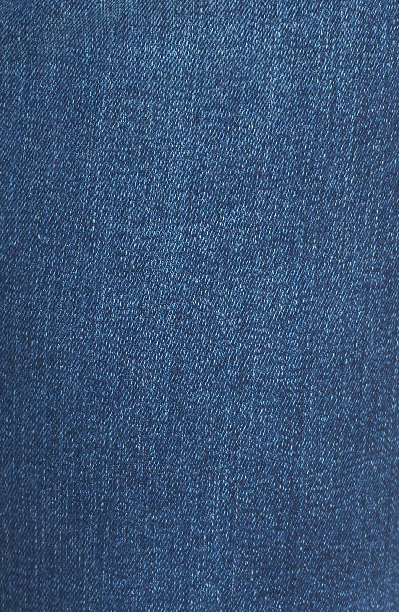 Alternate Image 5  - AG The Isabelle High Waist Crop Straight Leg Jeans (8 Years Ocean Tropic)