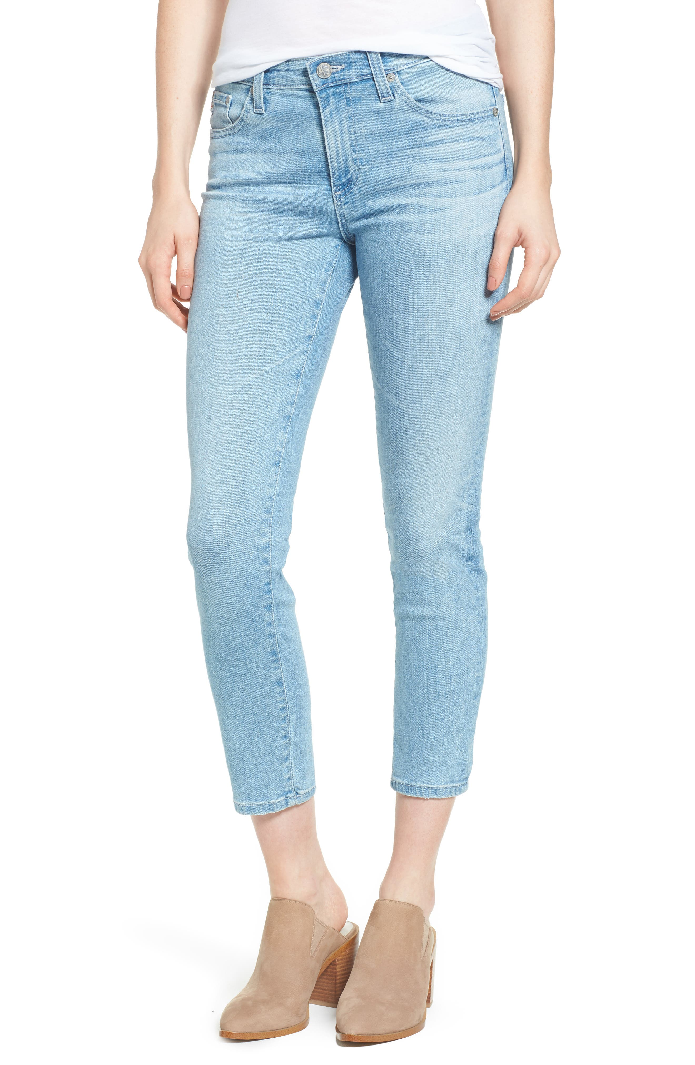 Main Image - AG Prima Distressed Crop Cigarette Jeans (20 Years Oceana)