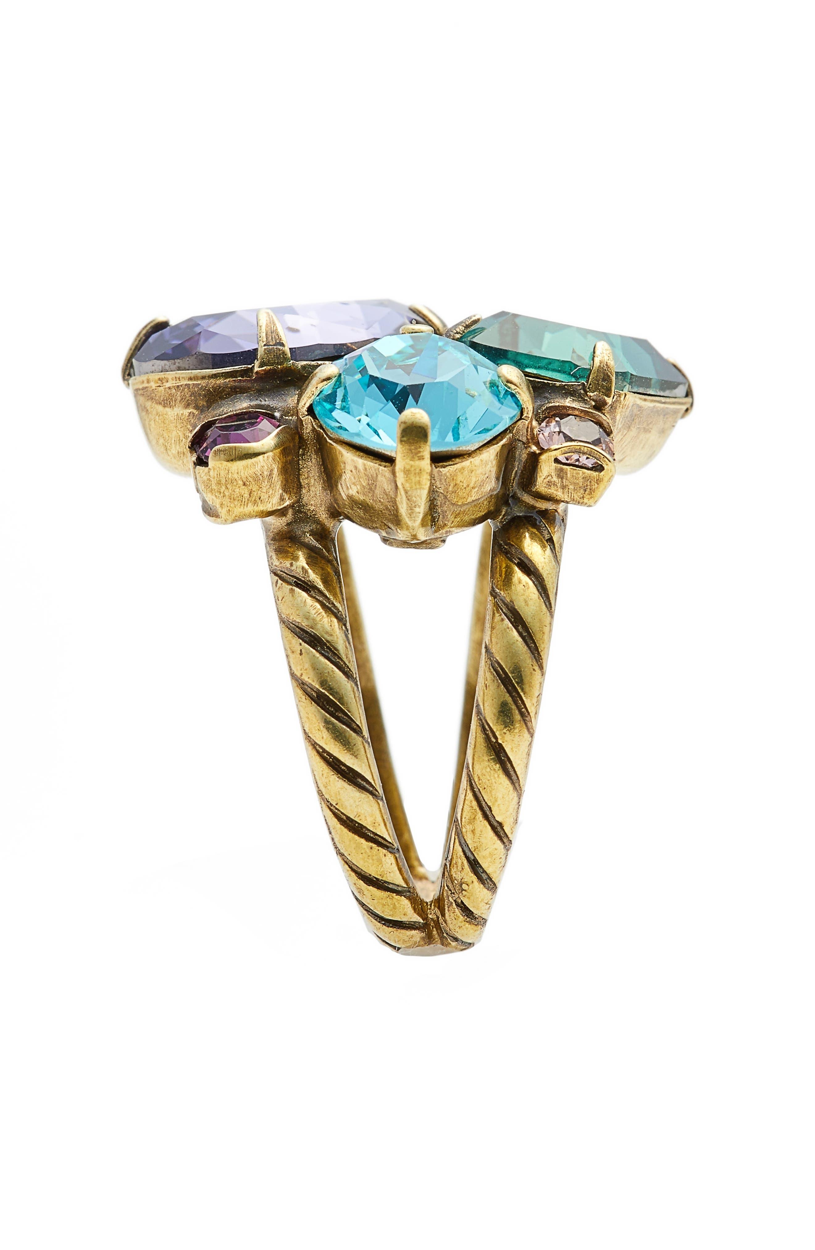 Alternate Image 2  - Sorrelli Crystal Cluster Cocktail Ring