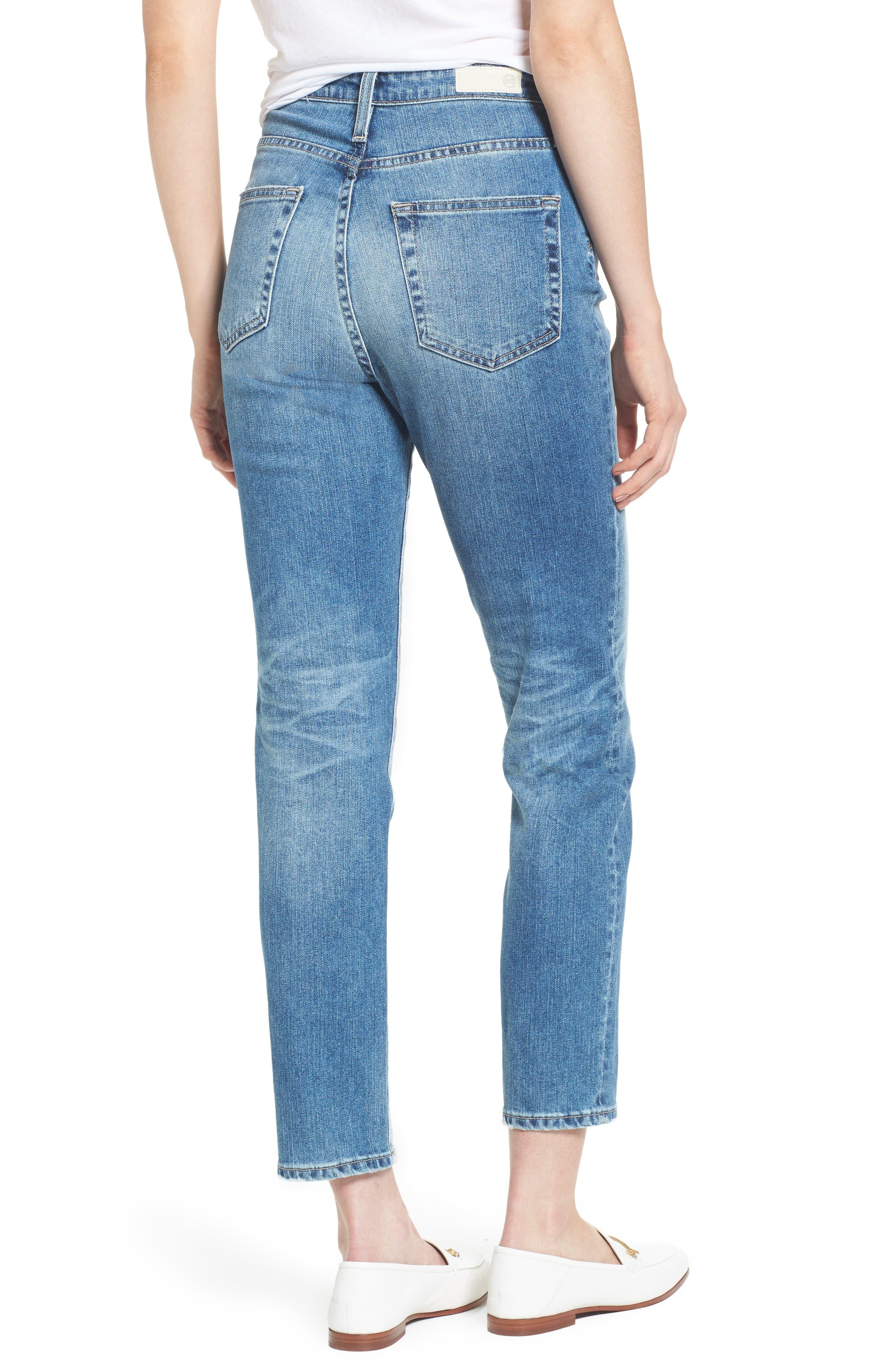Alternate Image 2  - AG 'The Phoebe' Vintage High Rise Straight Leg Jeans (16 Years Indigo Deluge)