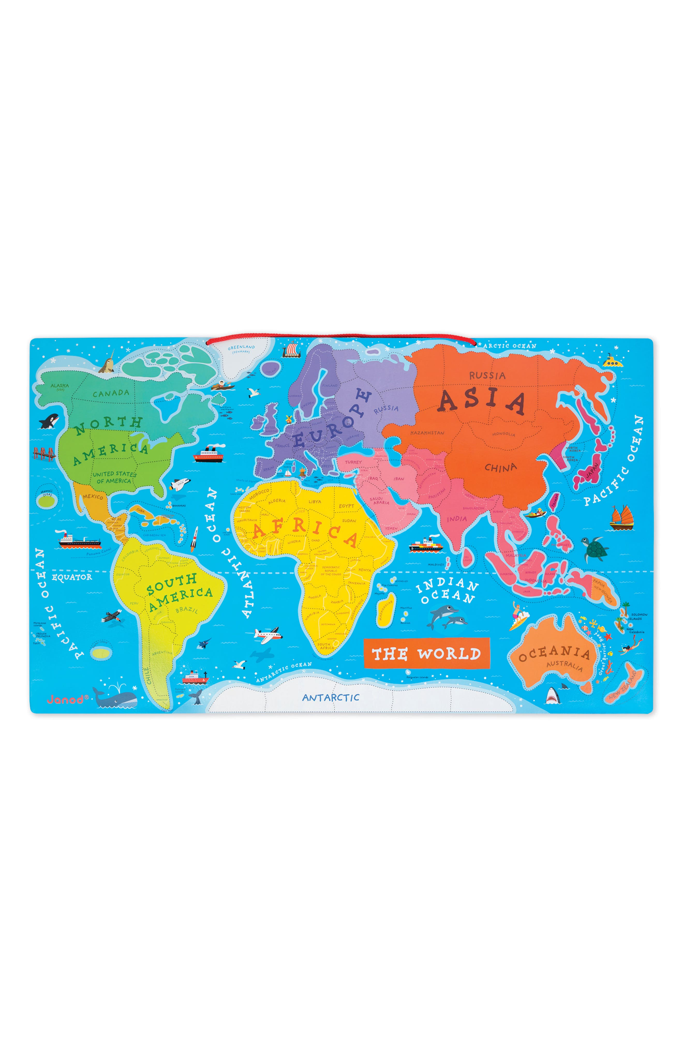 93-Piece Magnetic World Map,                             Alternate thumbnail 2, color,                             No Color
