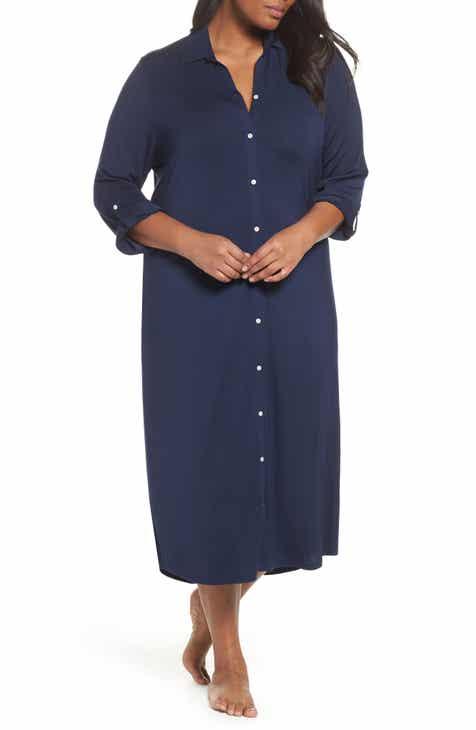 12212e15e2a Lauren Ralph Lauren Long Nightshirt (Plus Size)