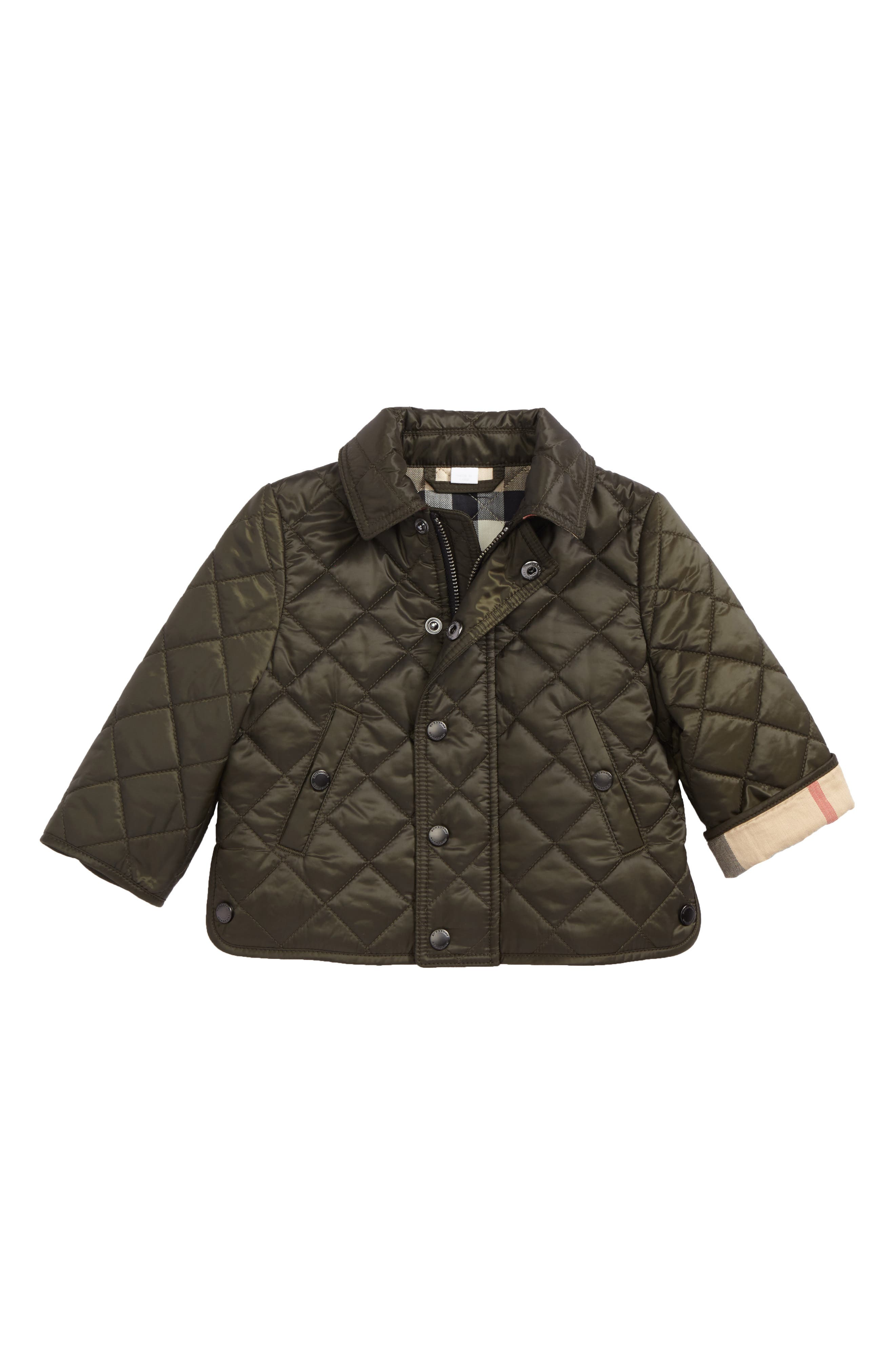 Mini Luke Quilted Jacket,                         Main,                         color, Olive