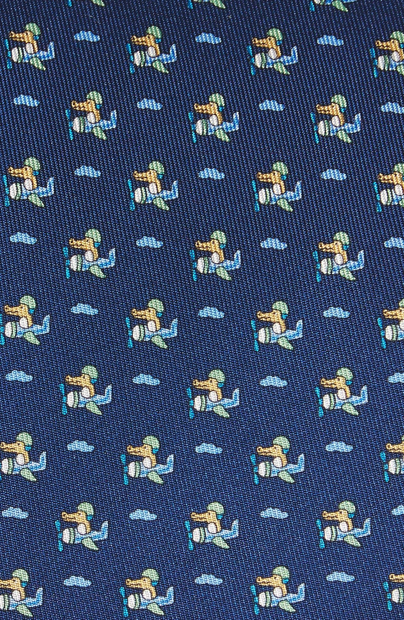 Ercole Print Silk Tie,                             Alternate thumbnail 2, color,                             Marine