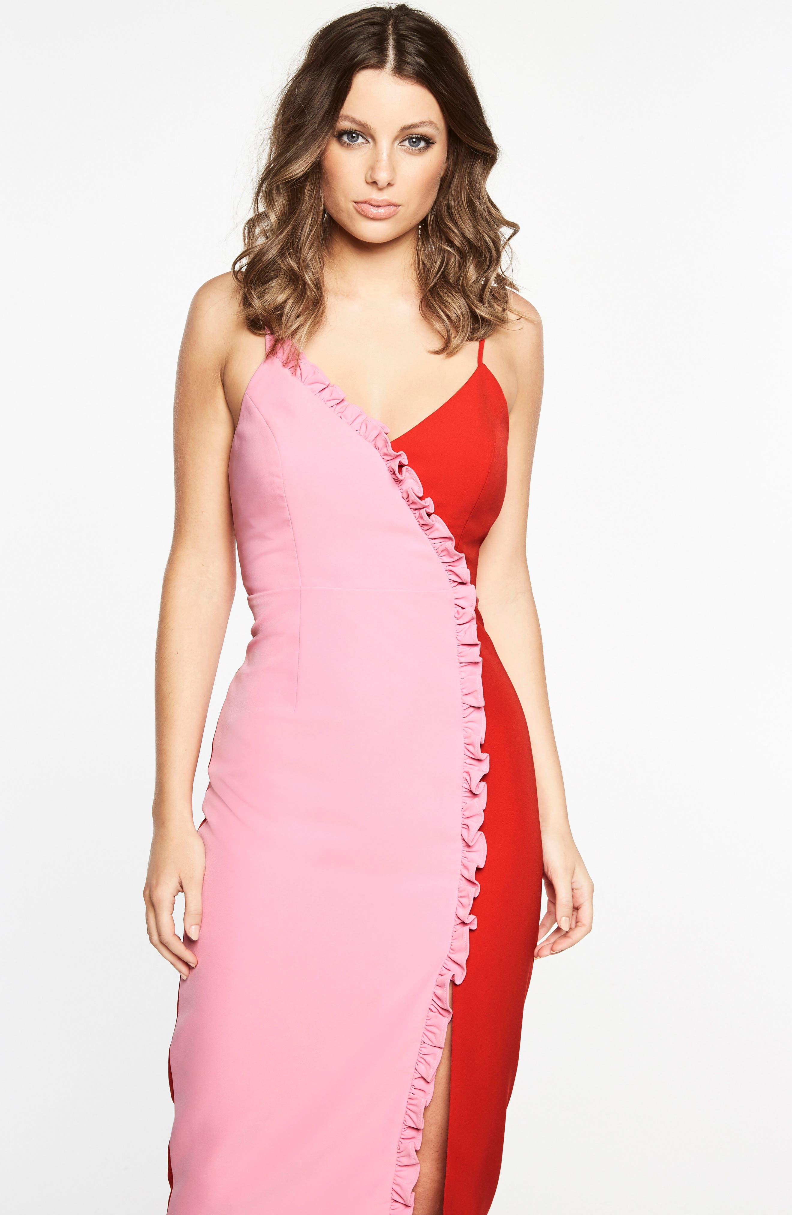 Sherbert Bomb Midi Dress,                         Main,                         color, Fruity-Pink/ Red36.94