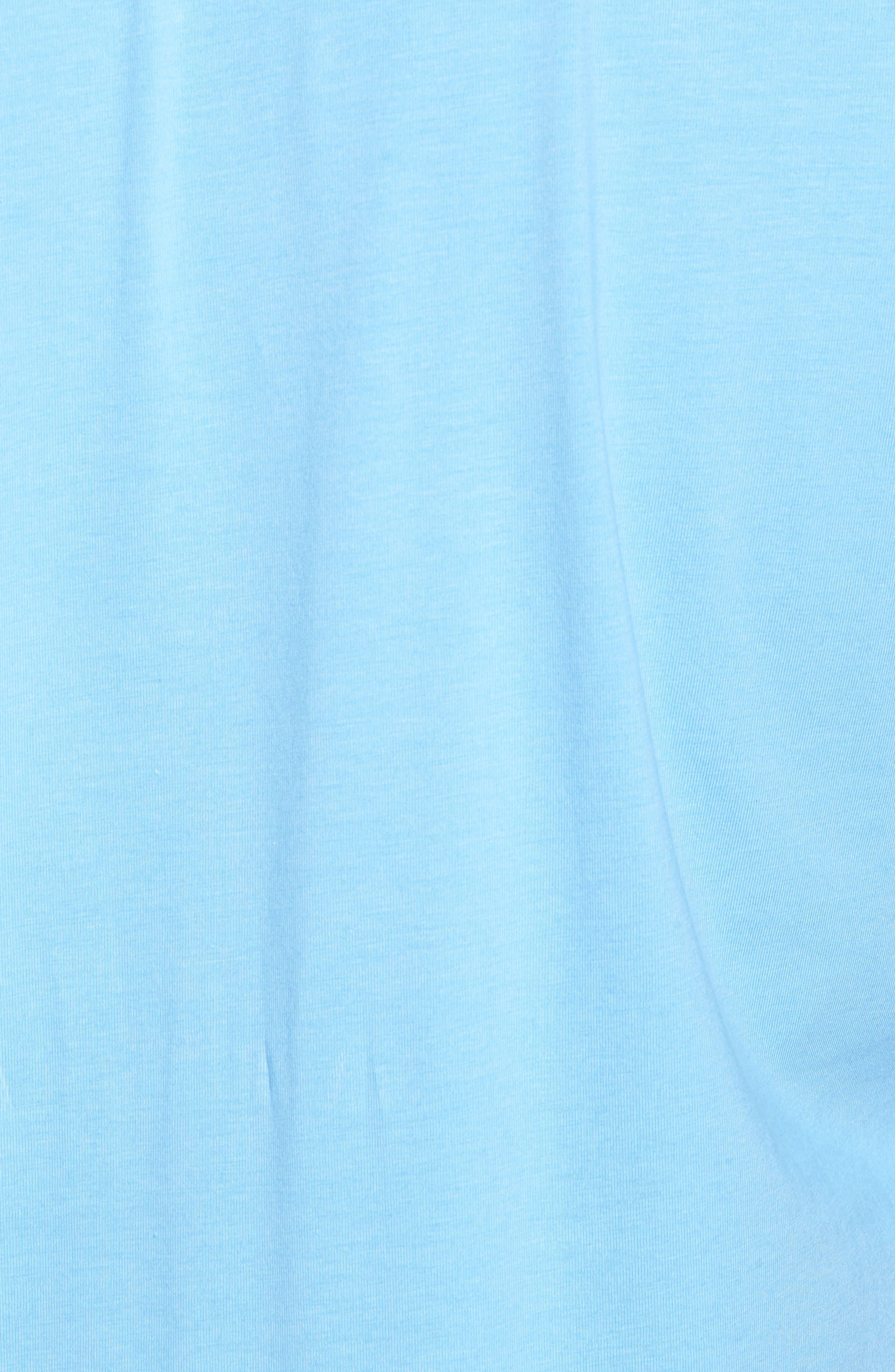 Liquid Cotton Stretch Jersey Polo,                             Alternate thumbnail 5, color,                             Sky Blue