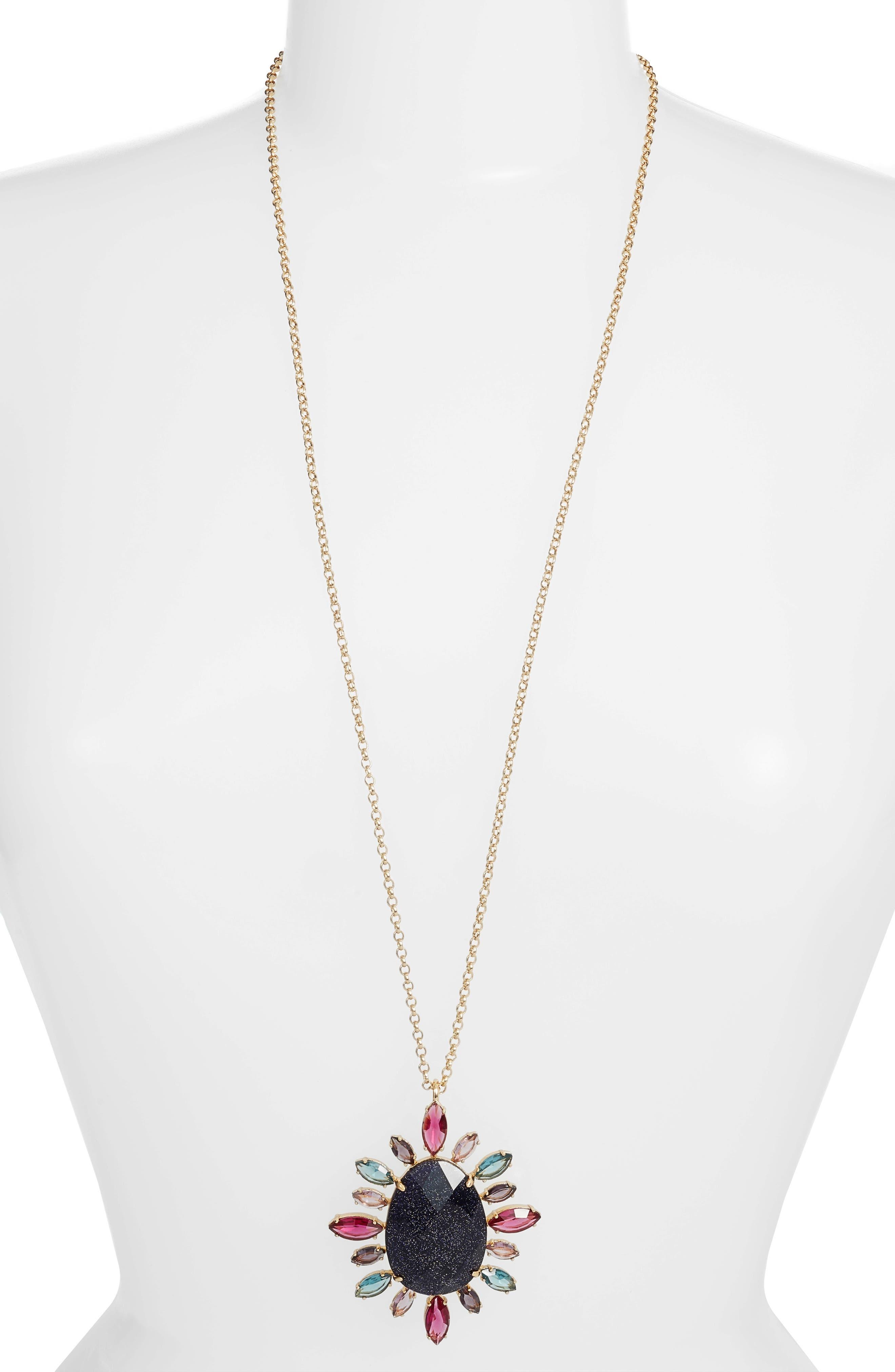night sky pendant necklace,                         Main,                         color, Purple Multi