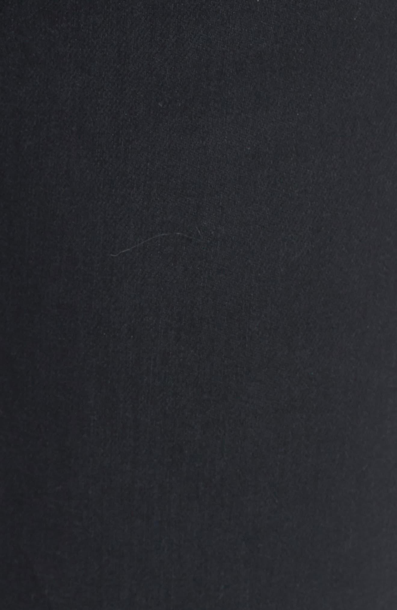 The Isabelle High Waist Crop Straight Leg Jeans,                             Alternate thumbnail 6, color,                             1 Year Black Hawk