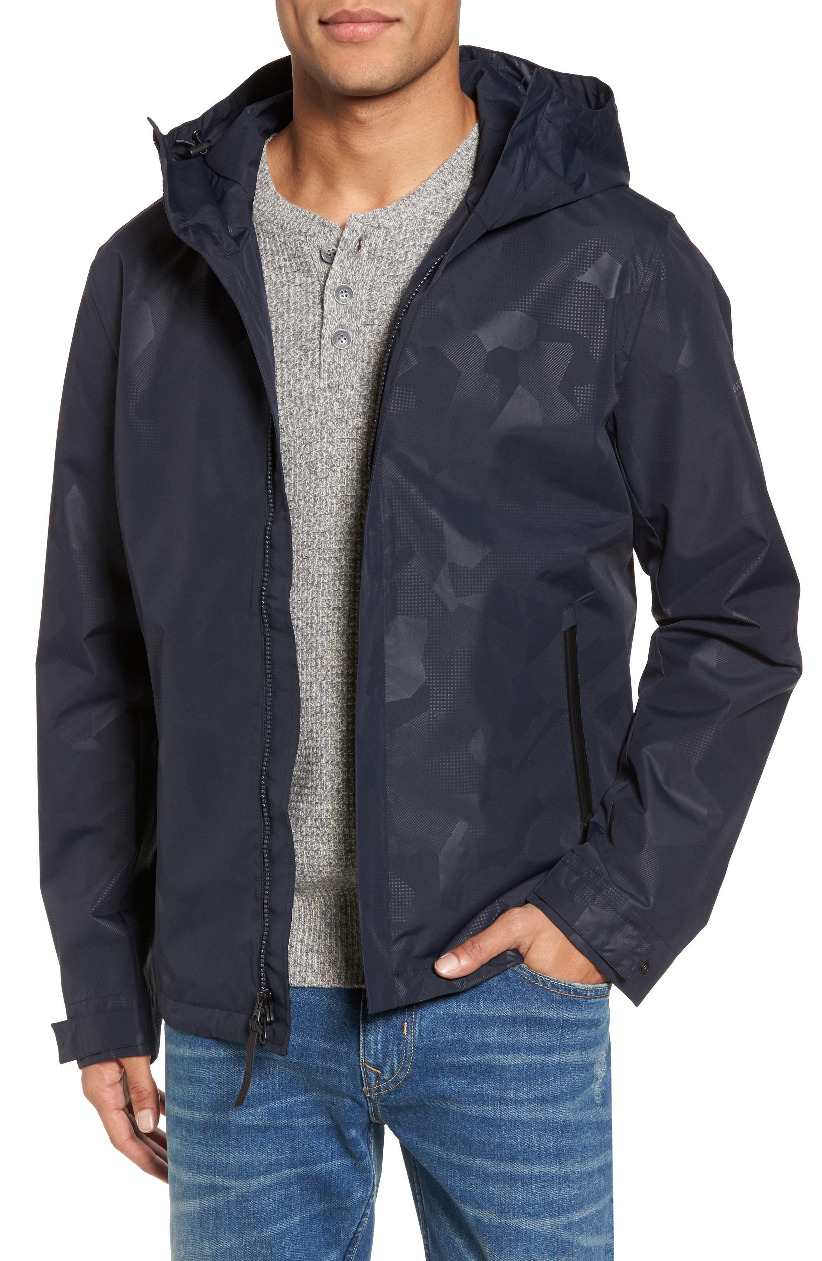 John Rich & Bros. Atlantic Camo Hooded Jacket,                         Main,                         color, Melton Blue Camo