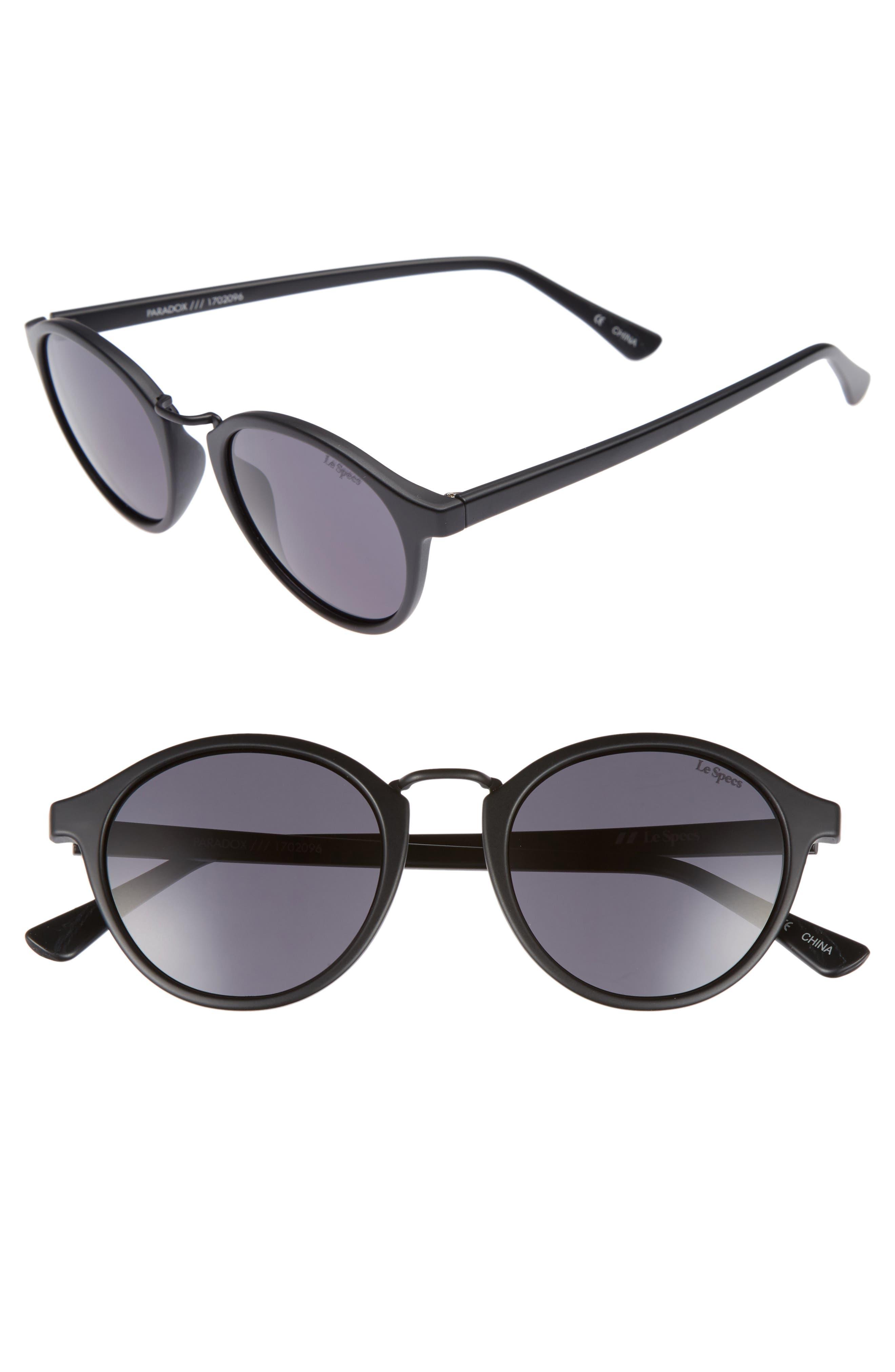 Paradox 49mm Oval Sunglasses,                         Main,                         color, Matte Black