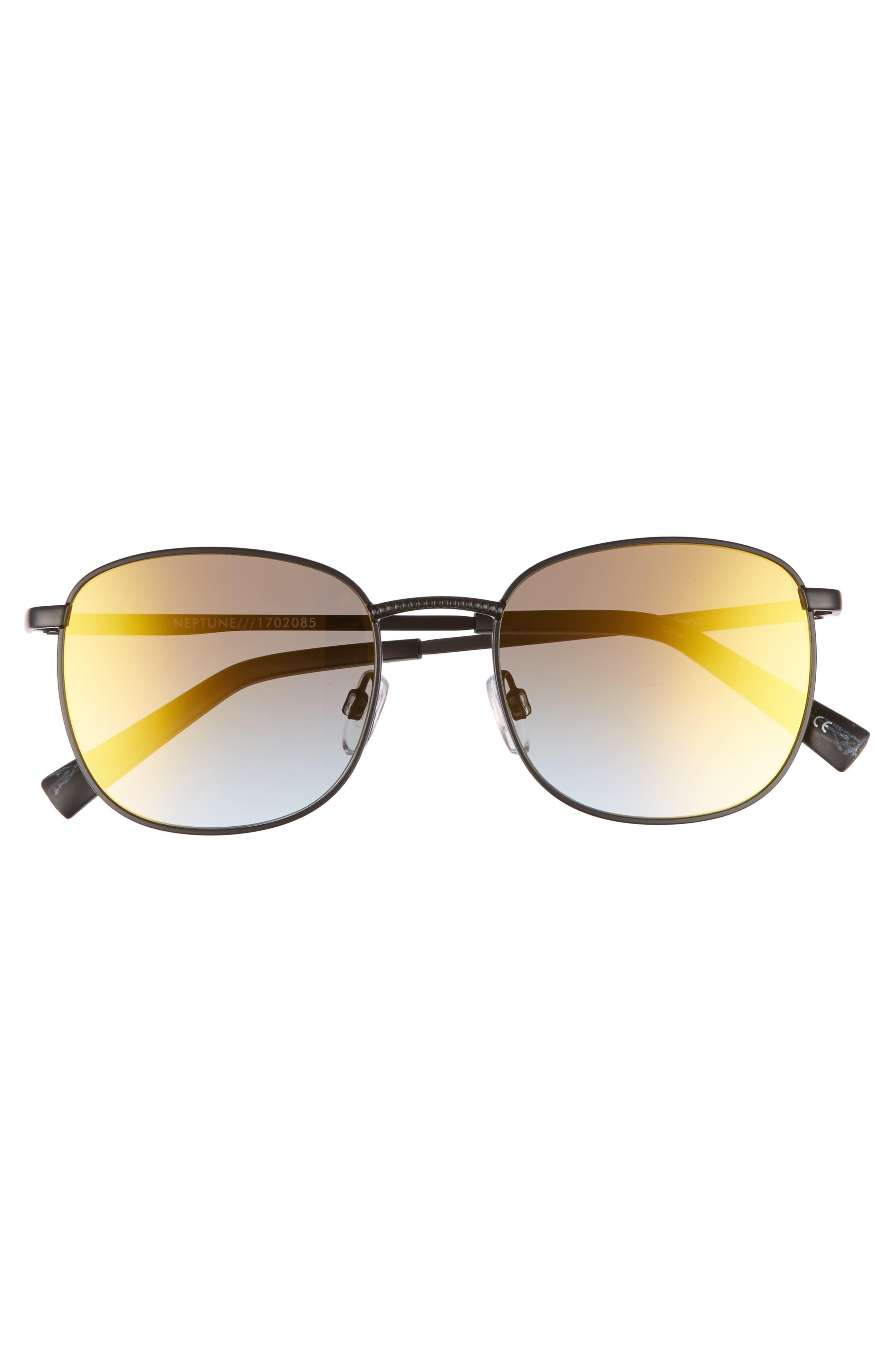Neptune 49mm Sunglasses,                             Alternate thumbnail 3, color,                             Matte Black