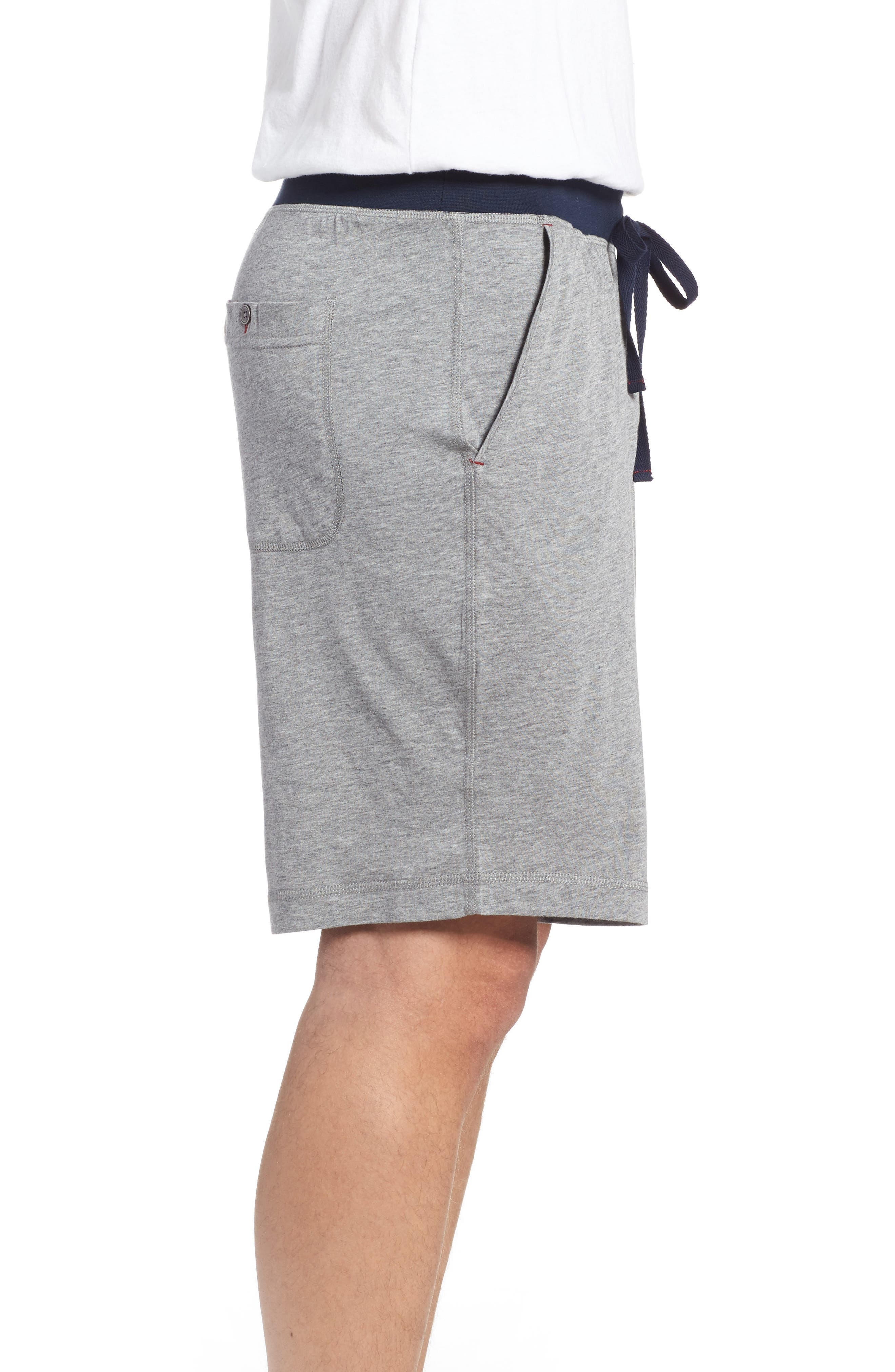 Pima Cotton & Modal Lounge Shorts,                             Alternate thumbnail 3, color,                             Grey Heather
