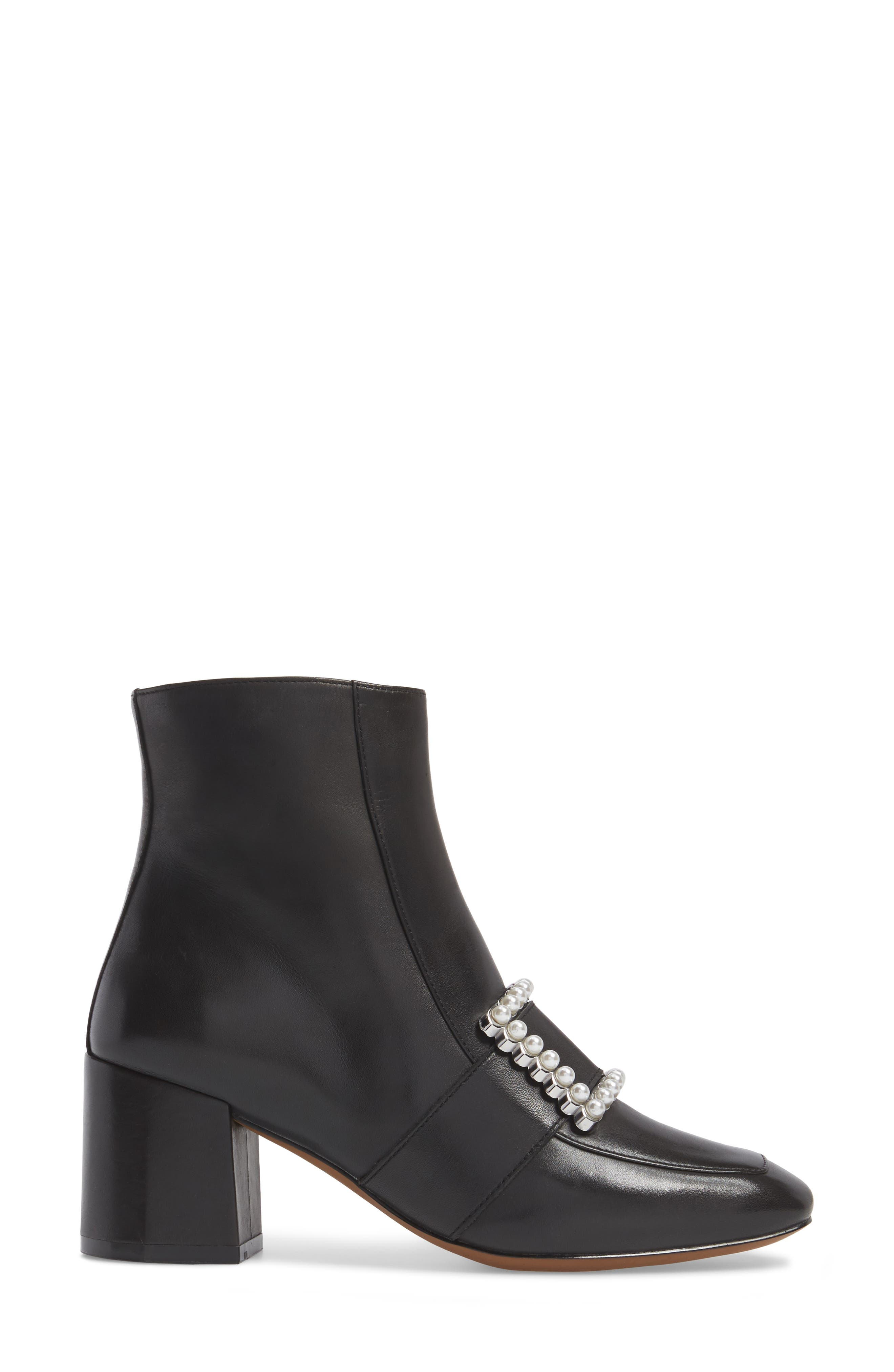 Cadence Buckle Bootie,                             Alternate thumbnail 3, color,                             Black Leather