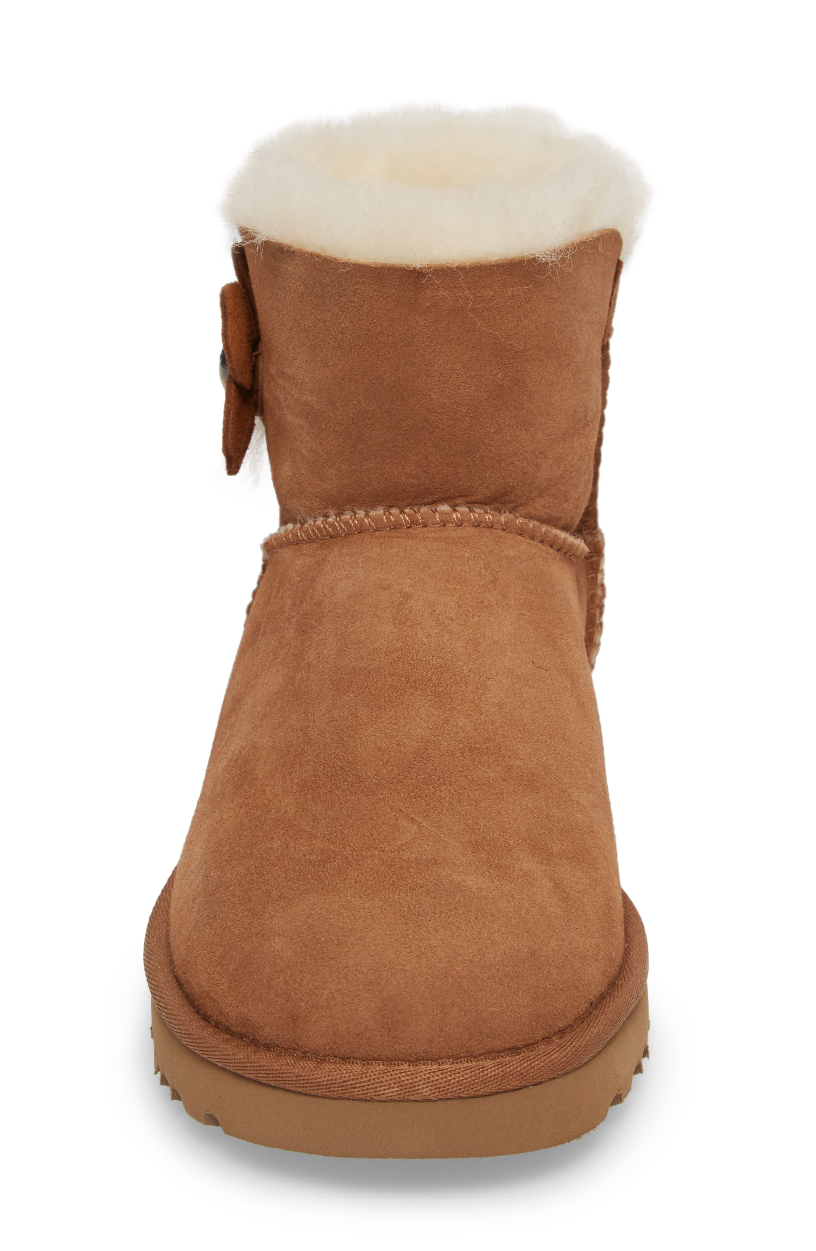 Alternate Image 4  - UGG® Mini Bailey Button Poppy Genuine Shearling Lined Boot (Women)