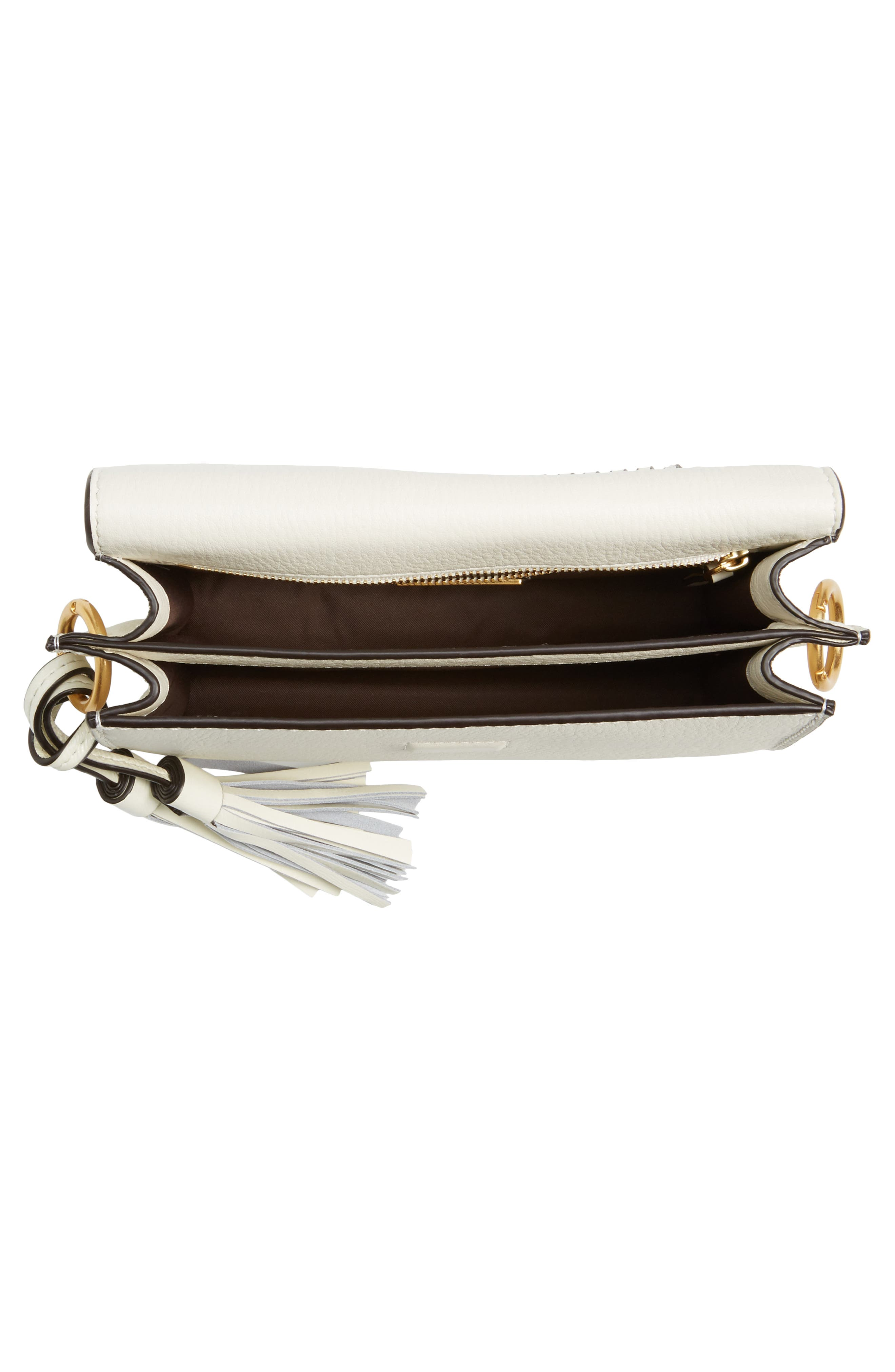 McGraw Whipstitch Leather Crossbody Bag,                             Alternate thumbnail 4, color,                             New Ivory