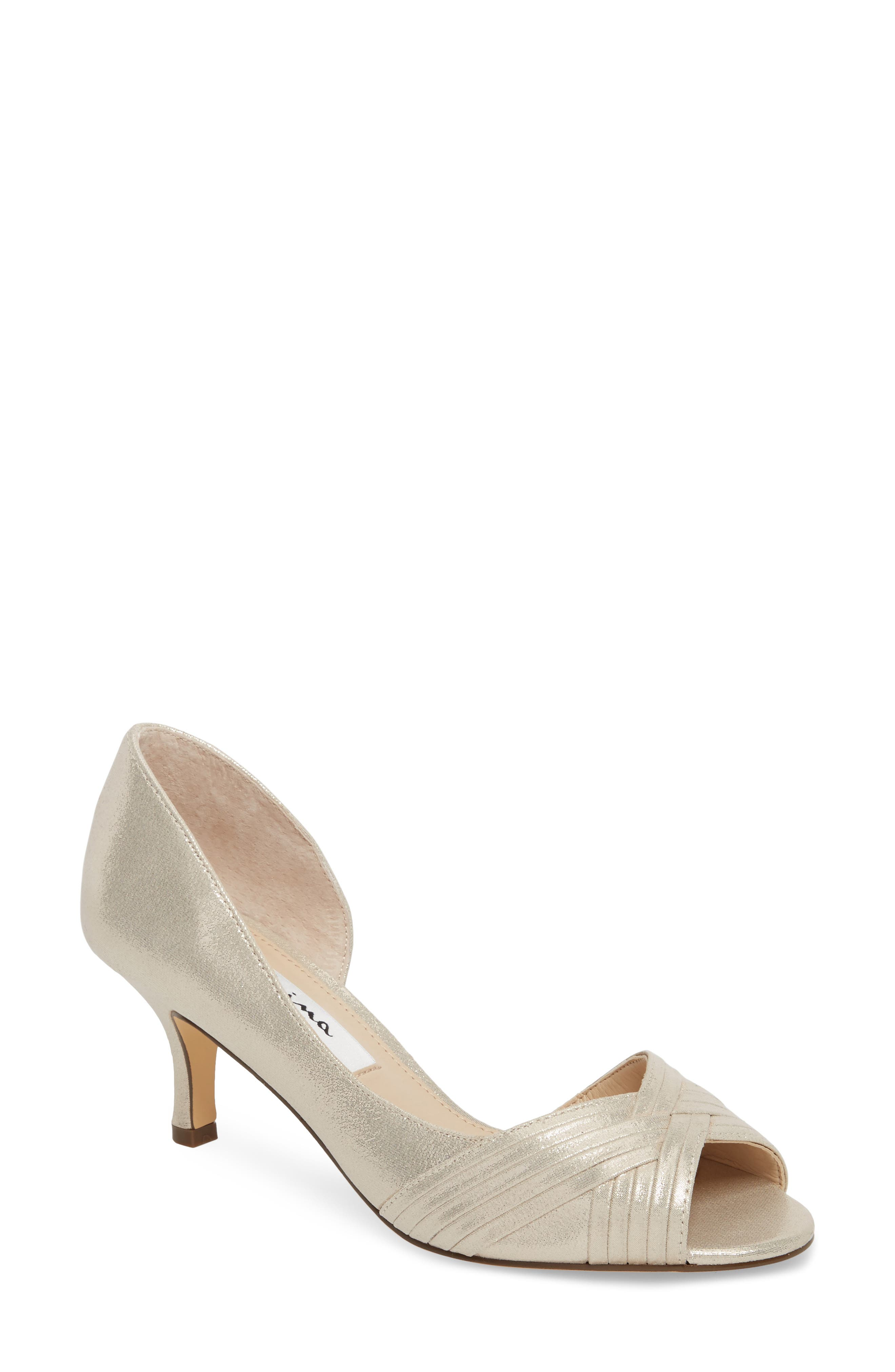 Main Image - Nina Contesa Open Toe Pump (Women)