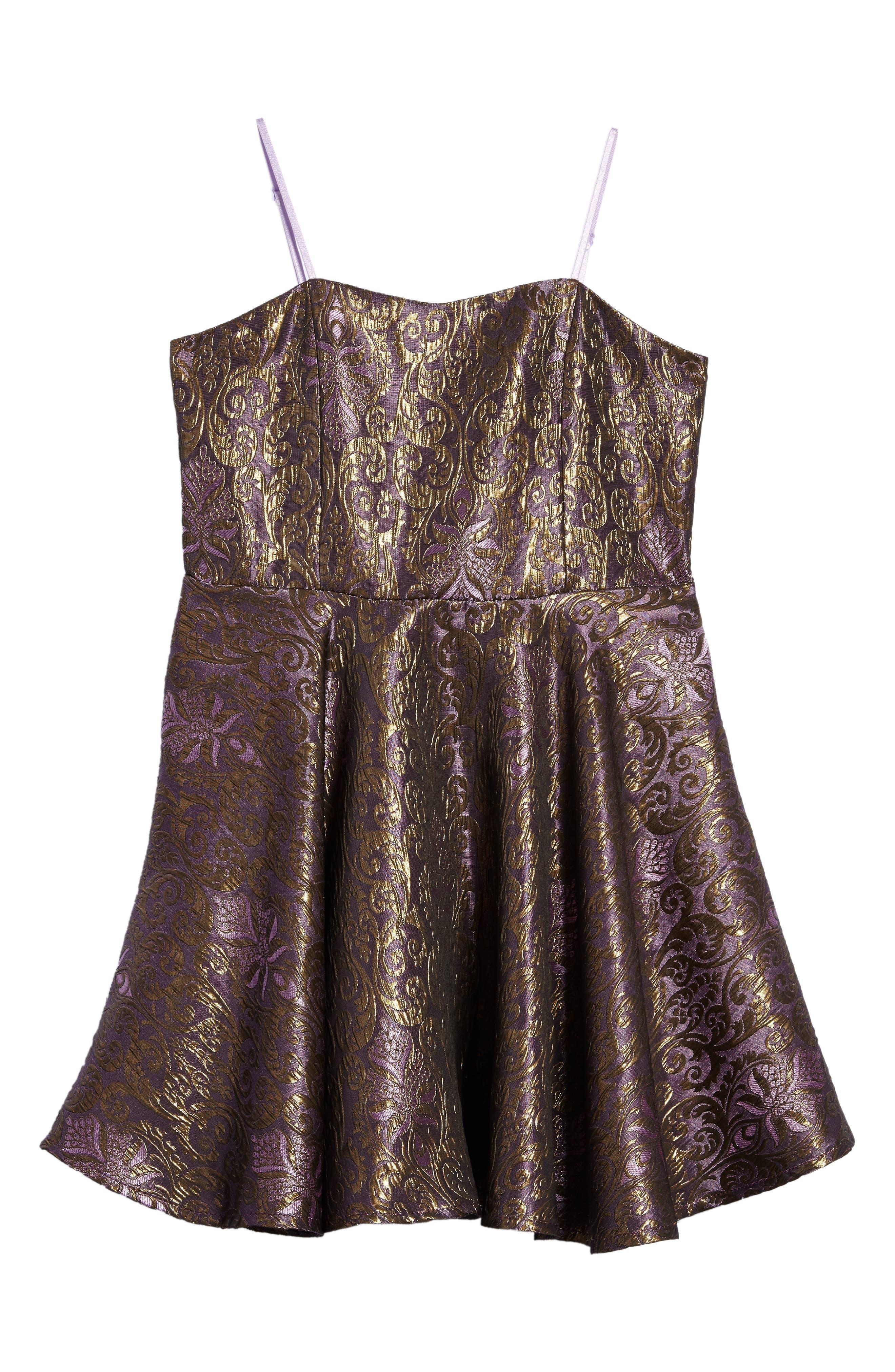 Un Deux Trois Jacquard Dress (Big Girls)