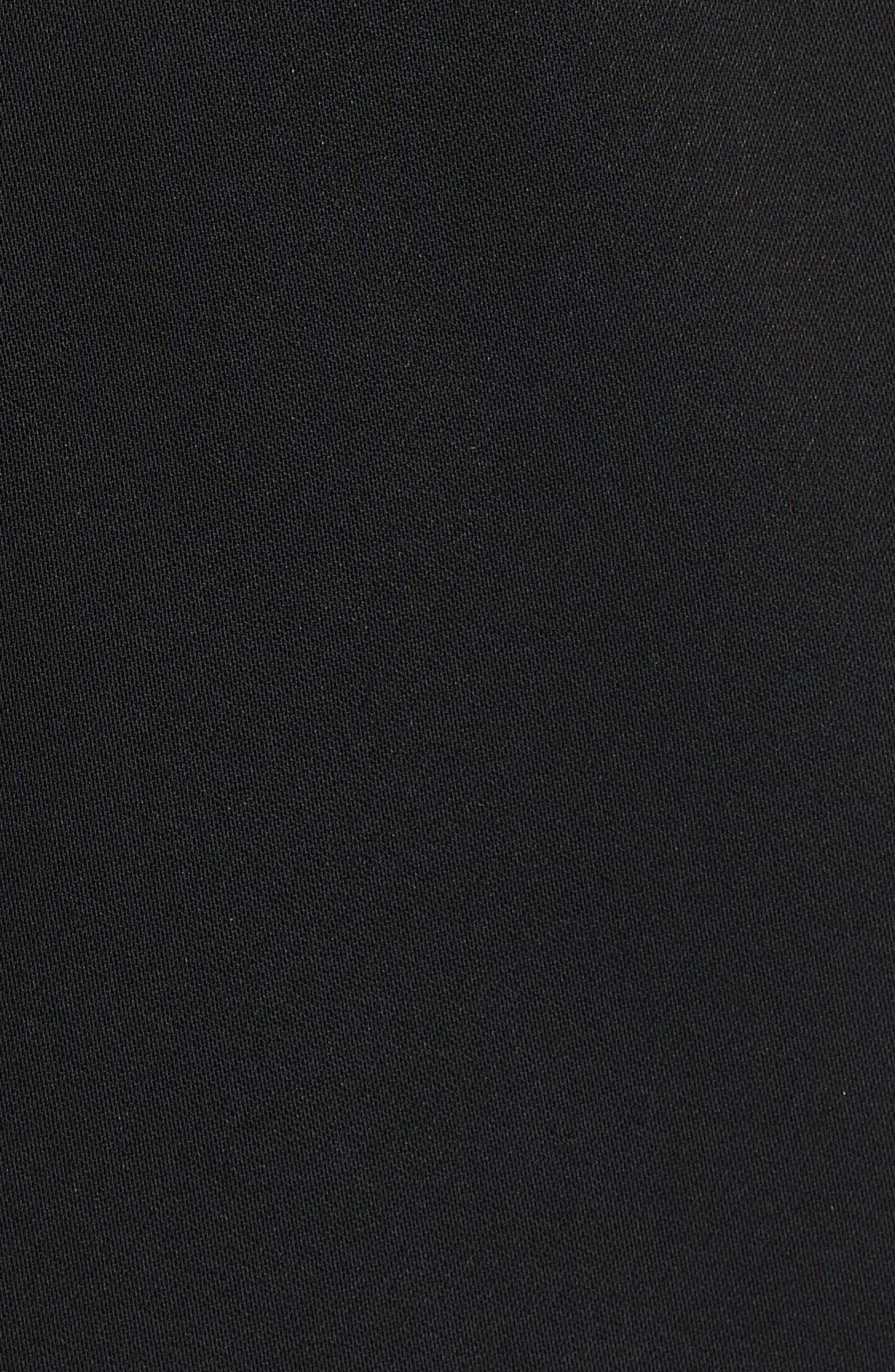 Bell Sleeve Blazer,                             Alternate thumbnail 5, color,                             Black