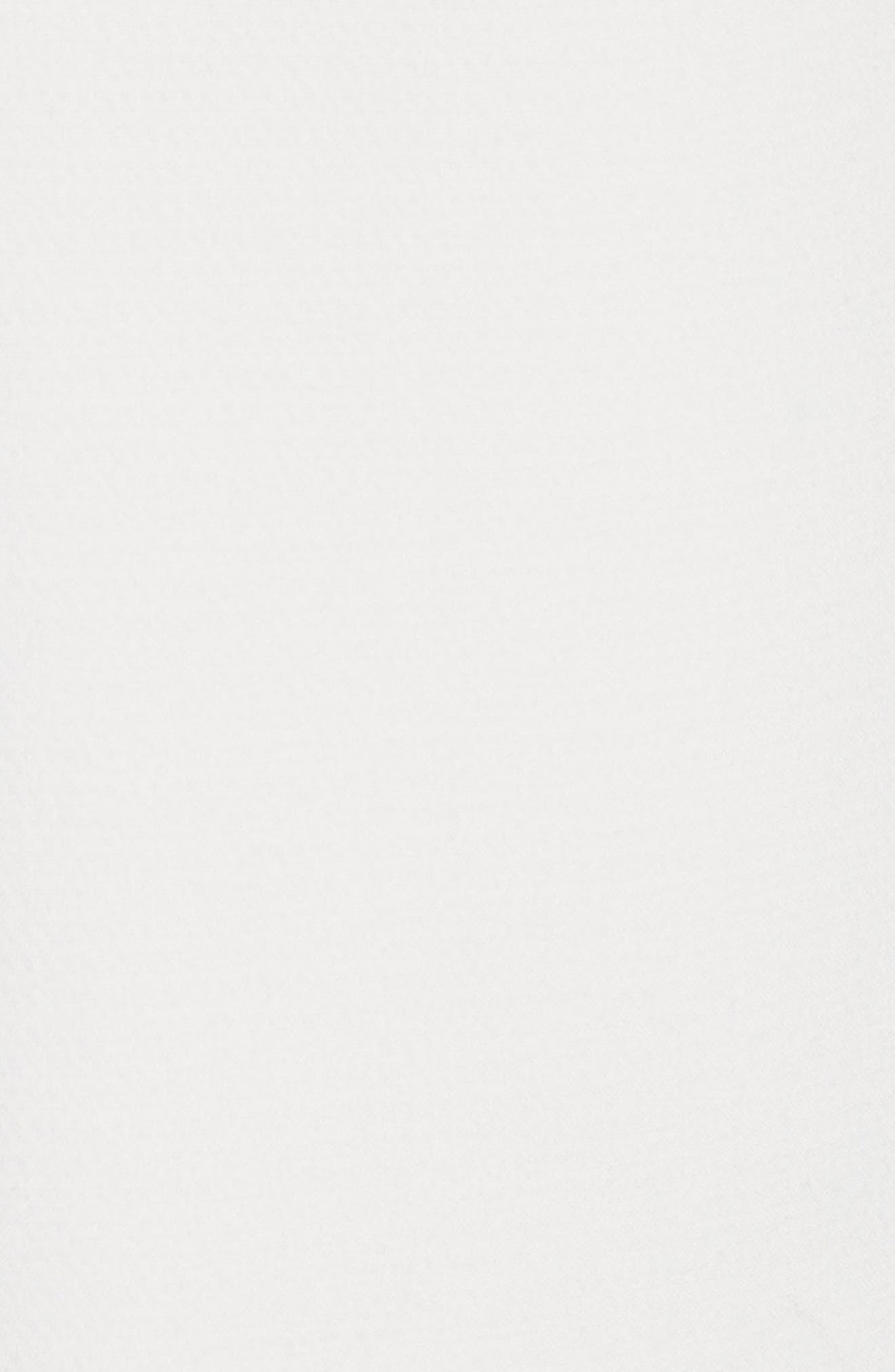 Flutter Sleeve Wool Blend Shift Dress,                             Alternate thumbnail 6, color,                             White