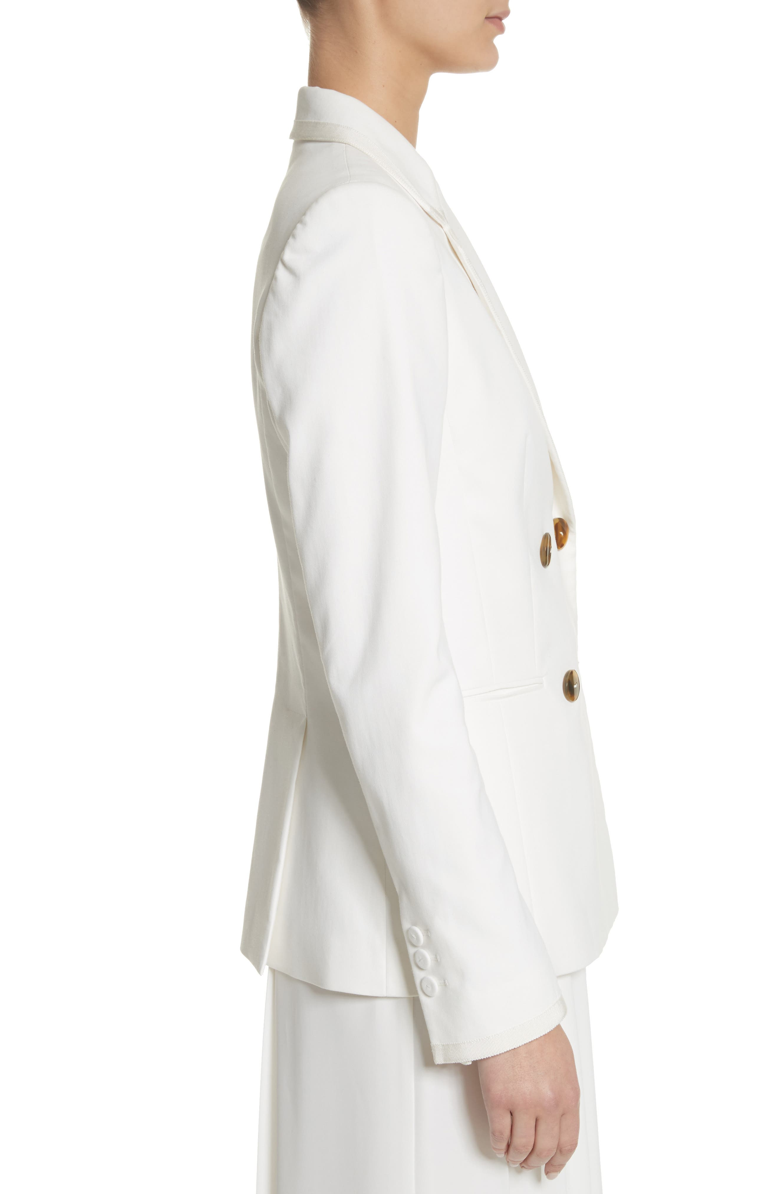 Double Breasted Blazer,                             Alternate thumbnail 3, color,                             White