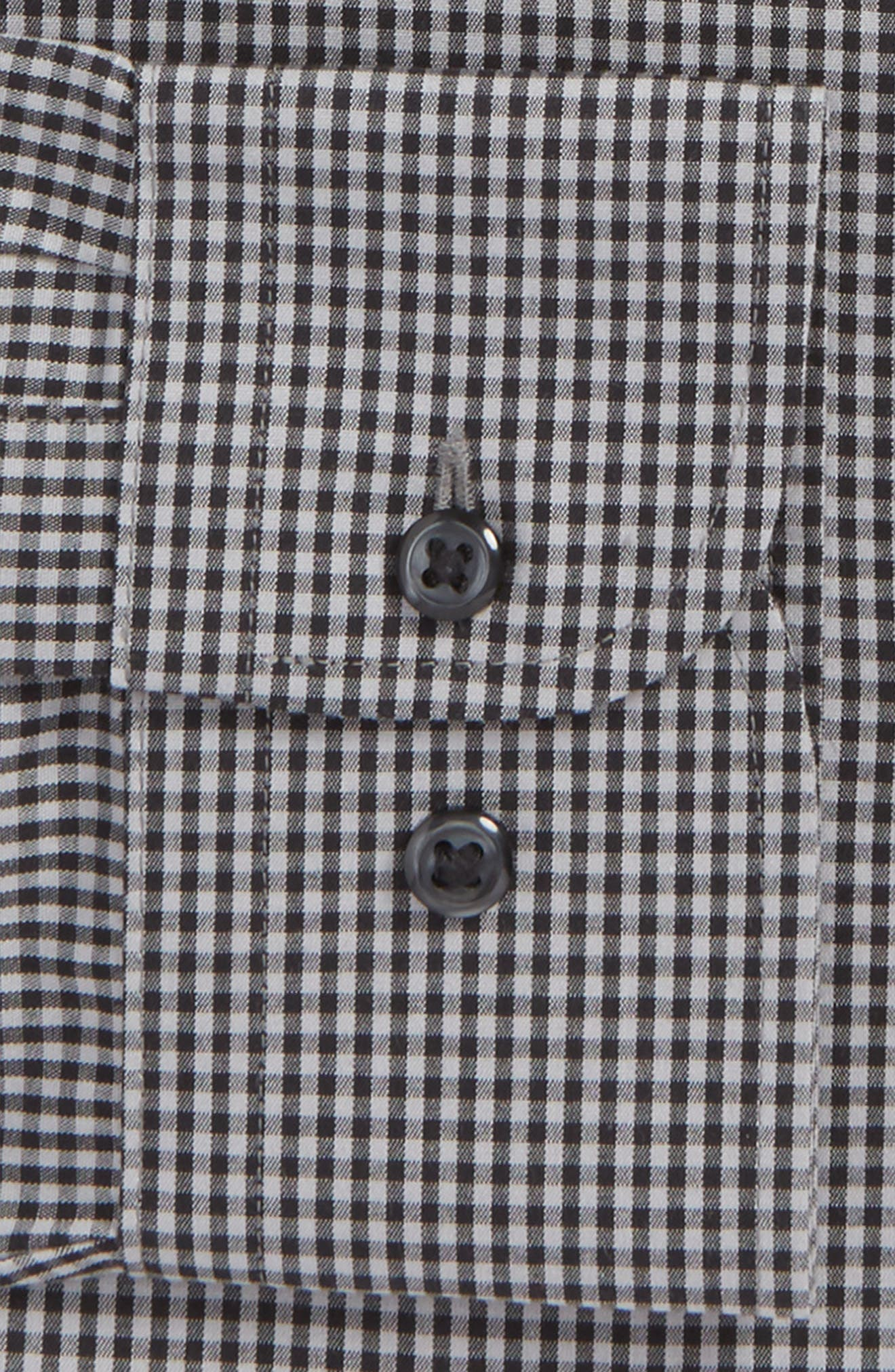 Smartcare<sup>™</sup> Traditional Fit Check Dress Shirt,                             Alternate thumbnail 5, color,                             Black Rock
