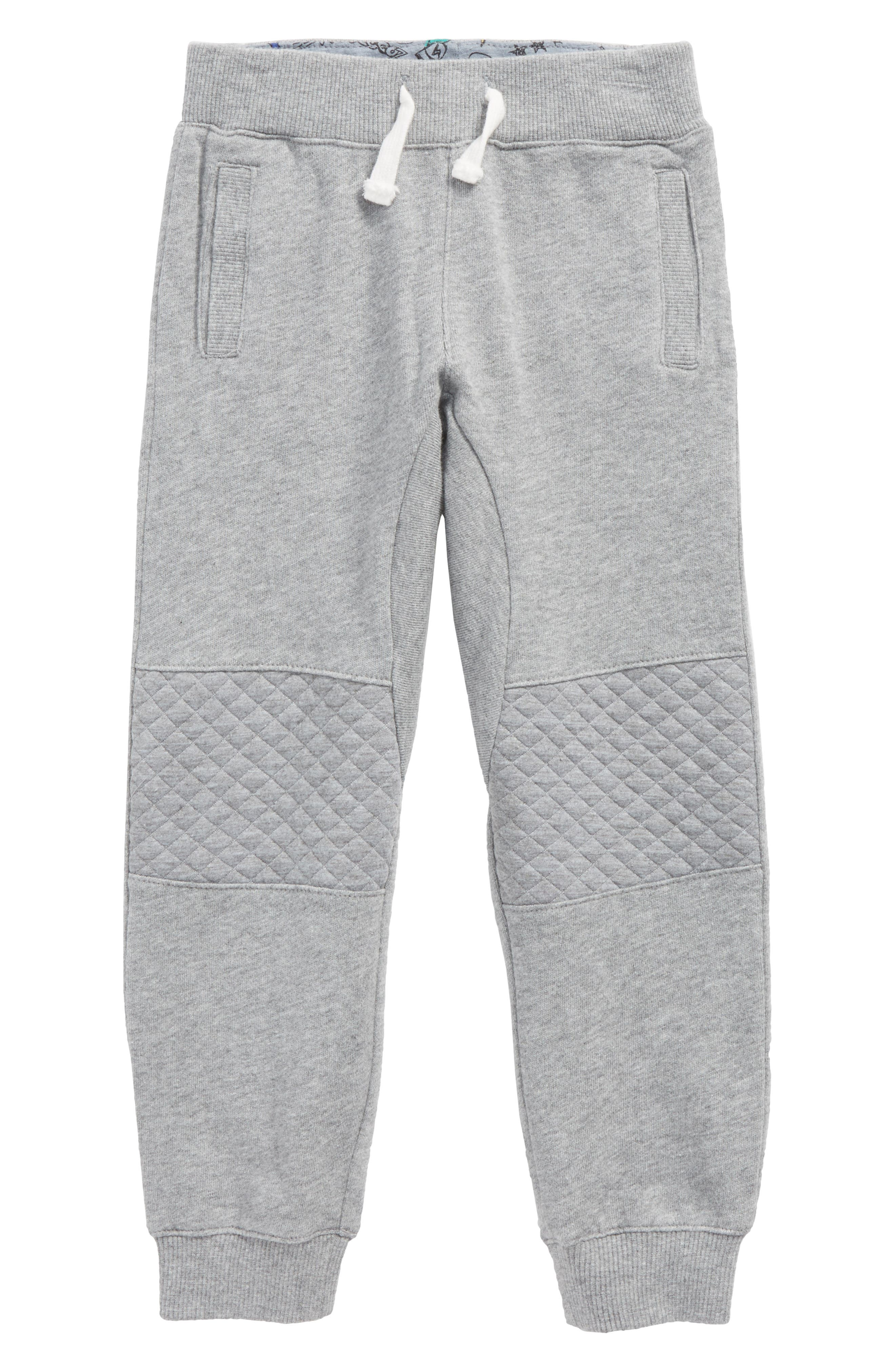Quilted French Terry Jogger Pants,                         Main,                         color, Grey Heather