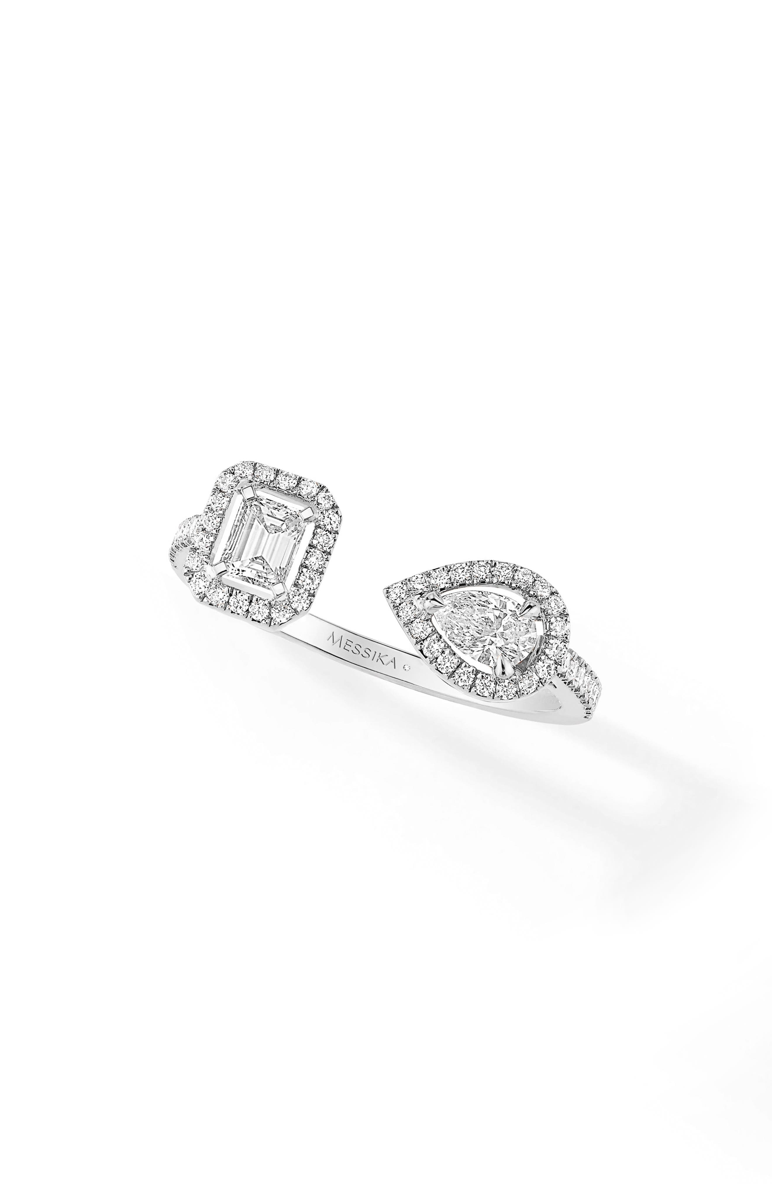 My Twin Diamond Ring,                         Main,                         color, White Gold