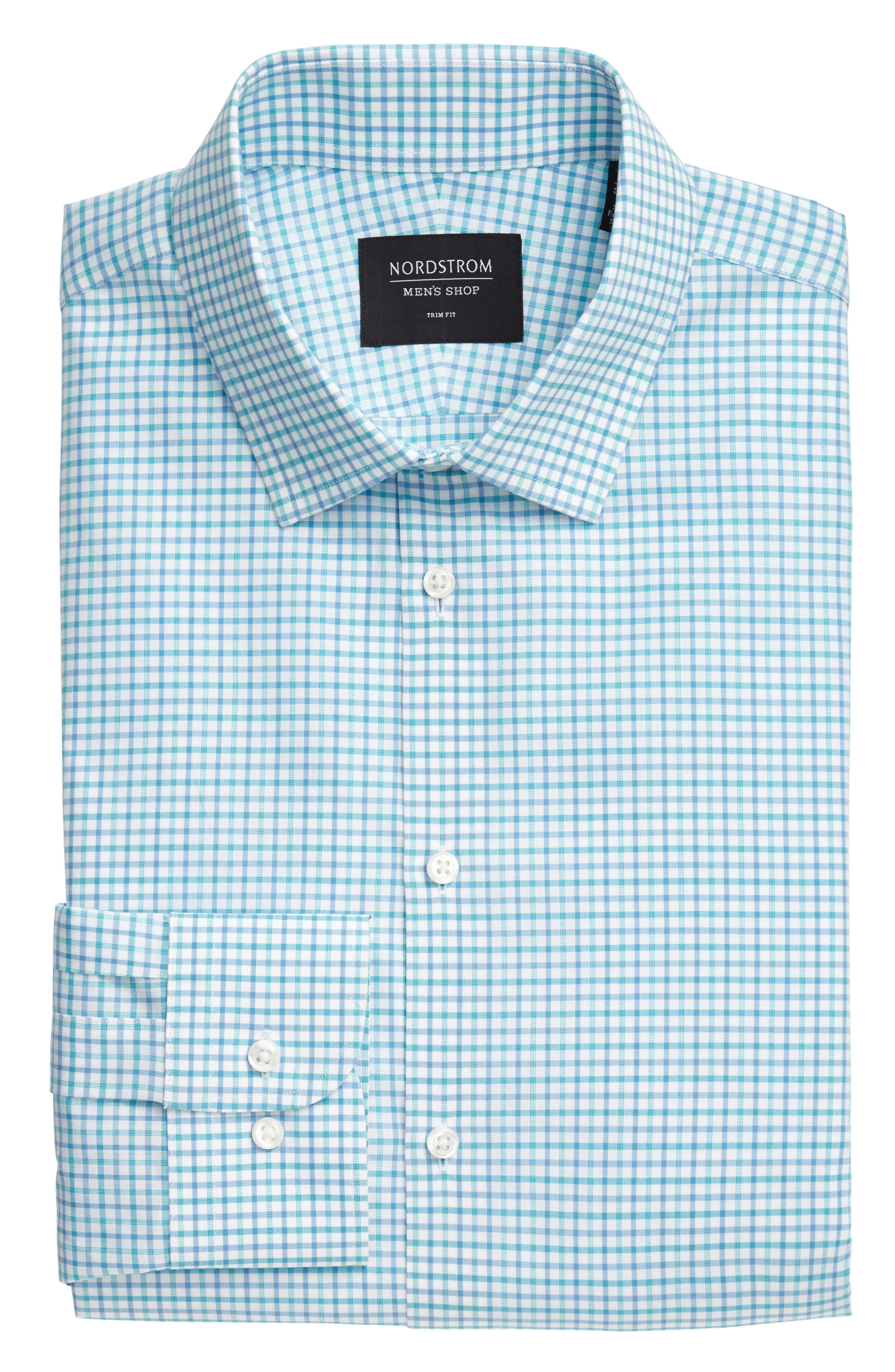 Alternate Image 6  - Nordstrom Men's Shop Trim Fit Check Dress Shirt