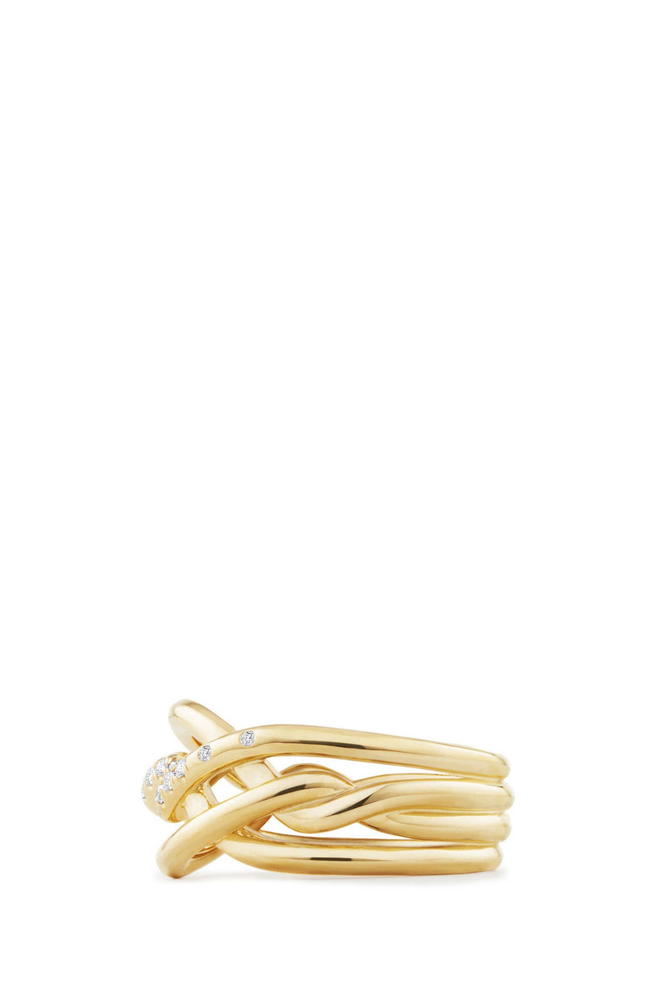 Continuance Ring with Diamonds in 18K Gold, 11.5mm,                             Alternate thumbnail 2, color,                             Yellow Gold