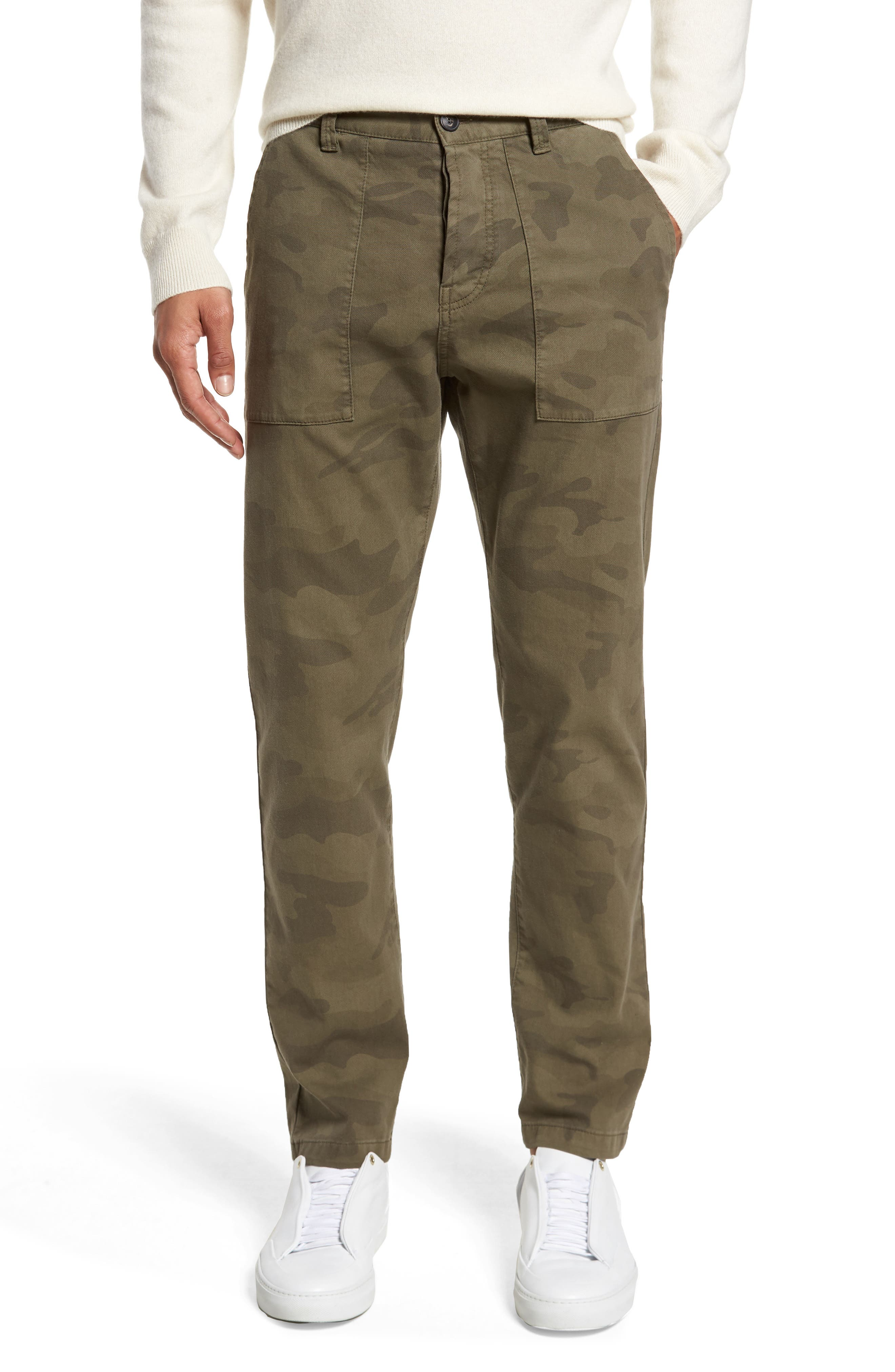 Alternate Image 1 Selected - Eleventy Camo Fatigue Pocket Pants