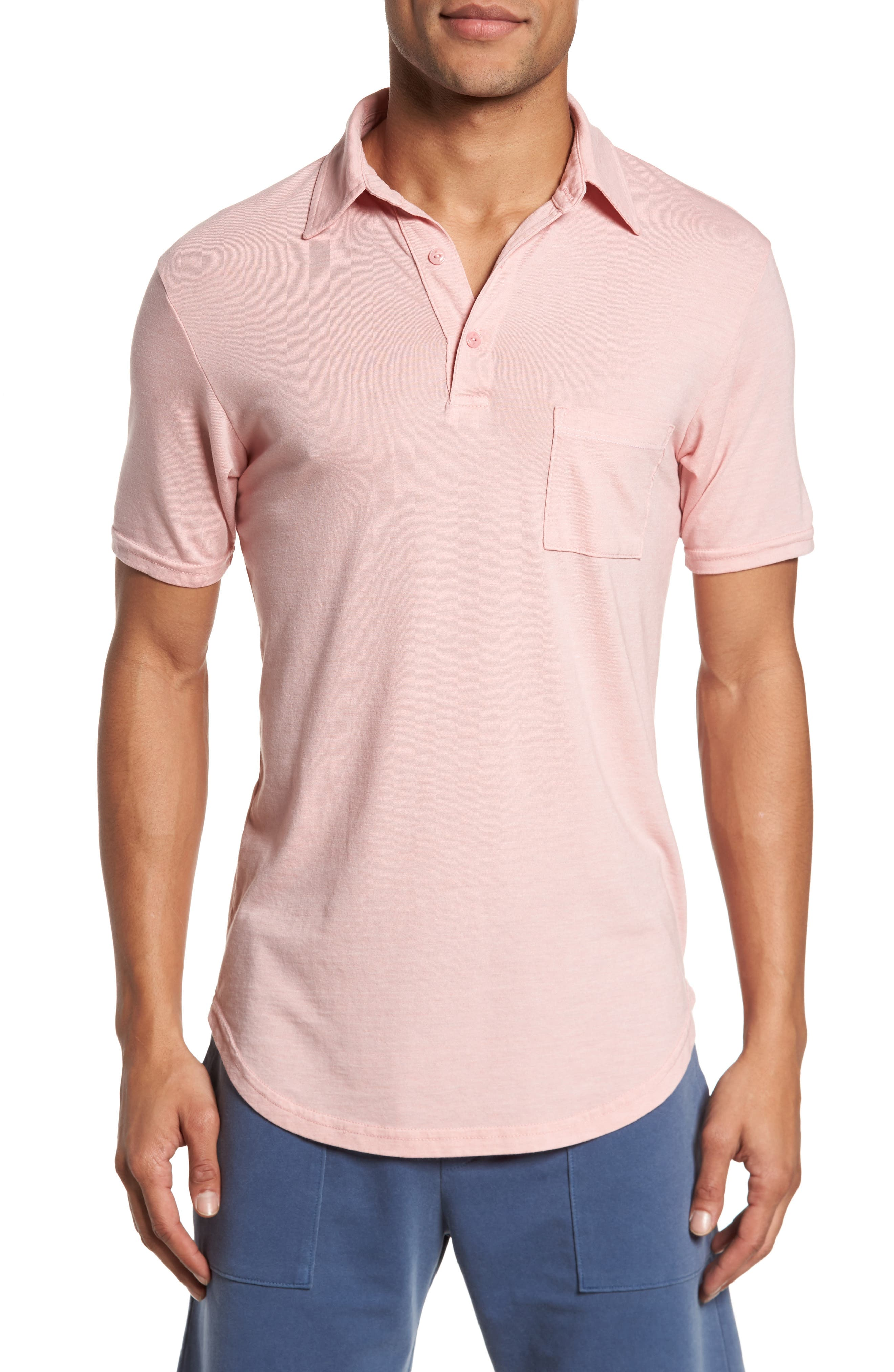 Triblend Scallop Polo,                             Main thumbnail 1, color,                             Rose