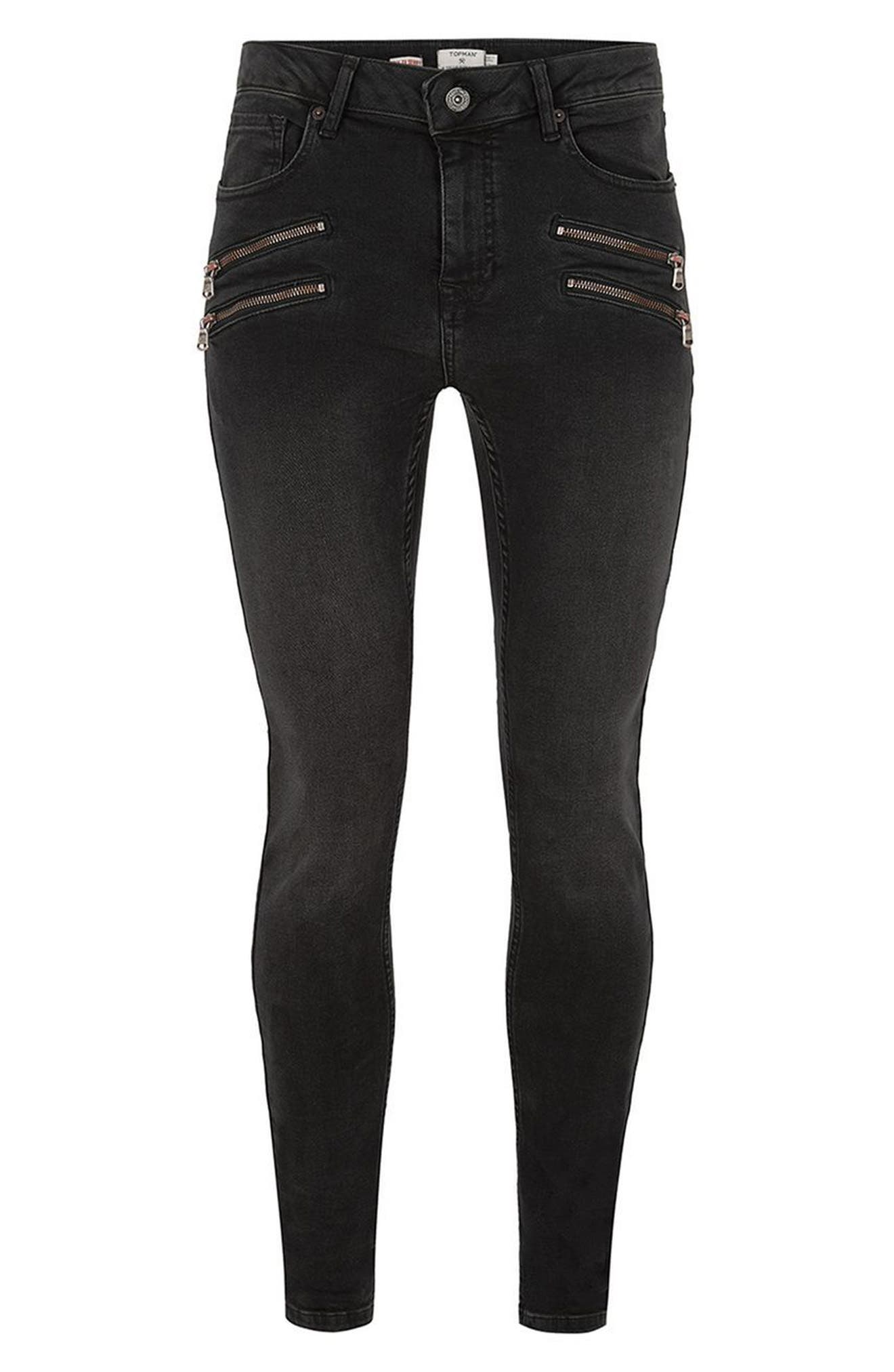 Alternate Image 3  - Topman Double Zip Spray-On Jeans