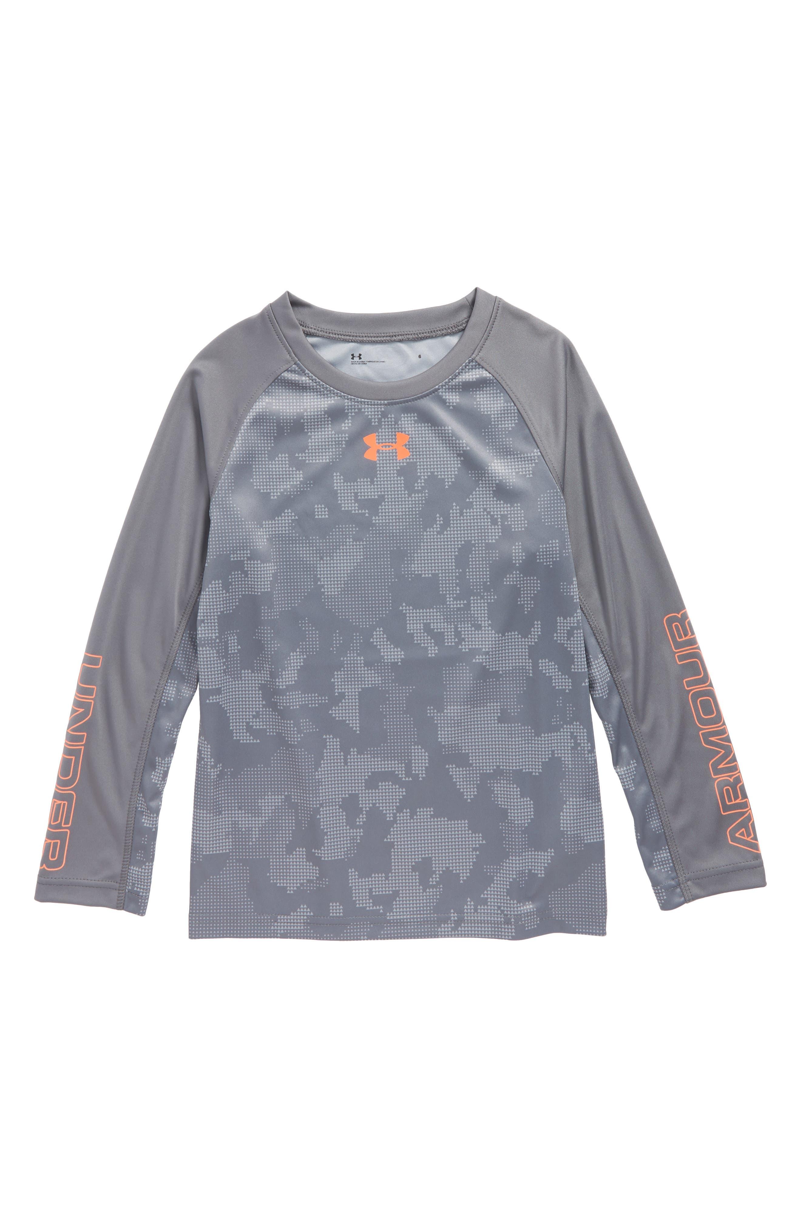 Main Image - Under Armour Utility Raglan Long Sleeve T-Shirt (Toddler Boys & Little Boys)