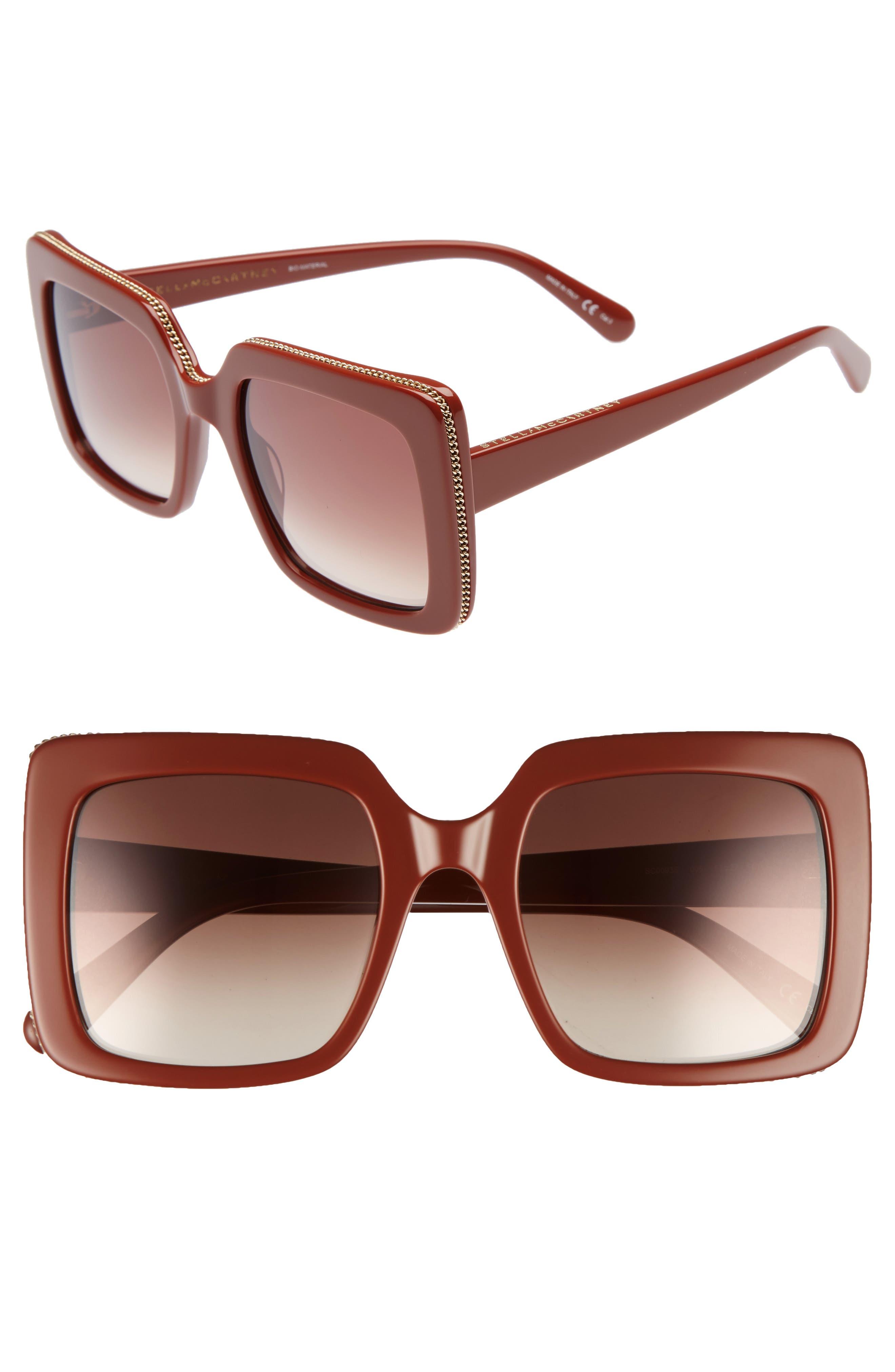 Cuadradas De Gafas Sol 53mm Rojo Stella Mccartney wqTF7FH