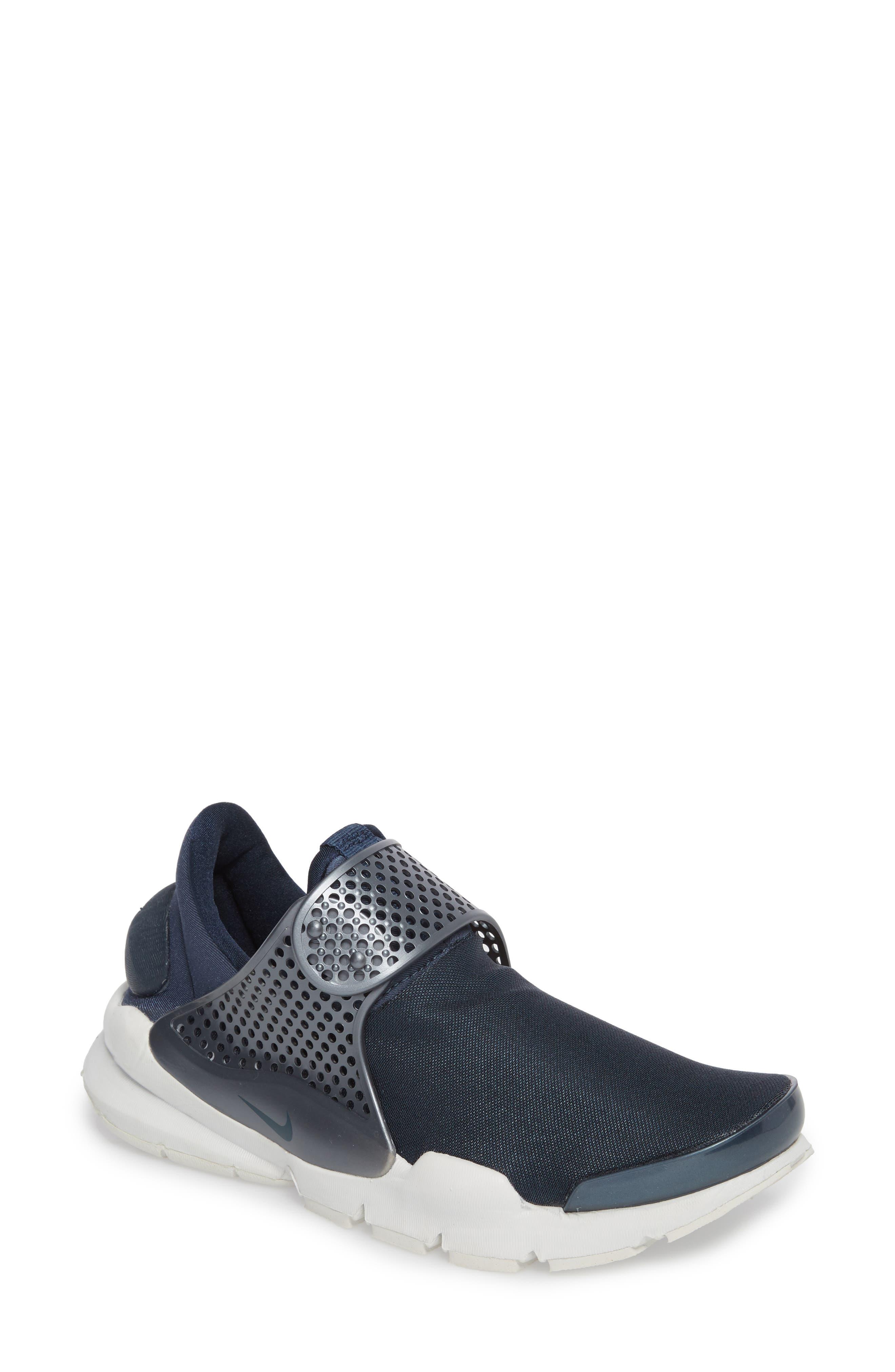 Sock Dart Sneaker,                             Main thumbnail 1, color,                             Metallic/ Armory Navy