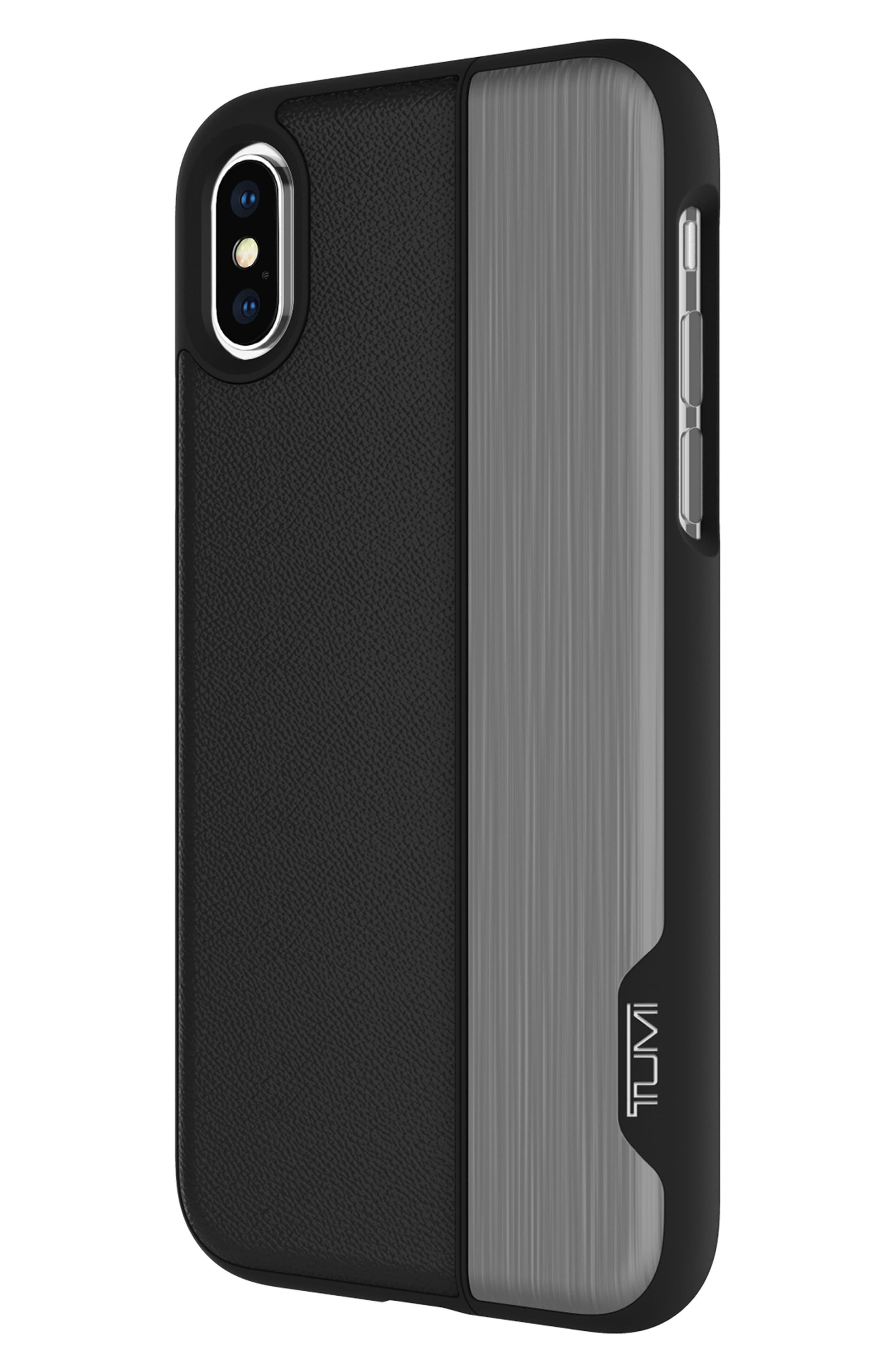 Vertical Slider iPhone X Case,                             Alternate thumbnail 5, color,                             Black Gunmetal